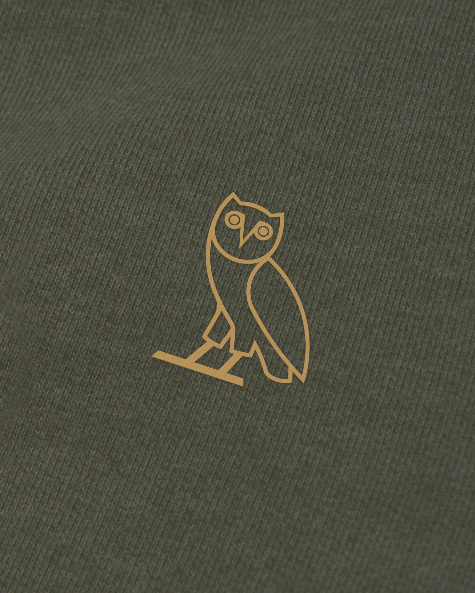 OVO FRENCH TERRY HOODIE - HEATHER MILITARY GREEN IMAGE #3