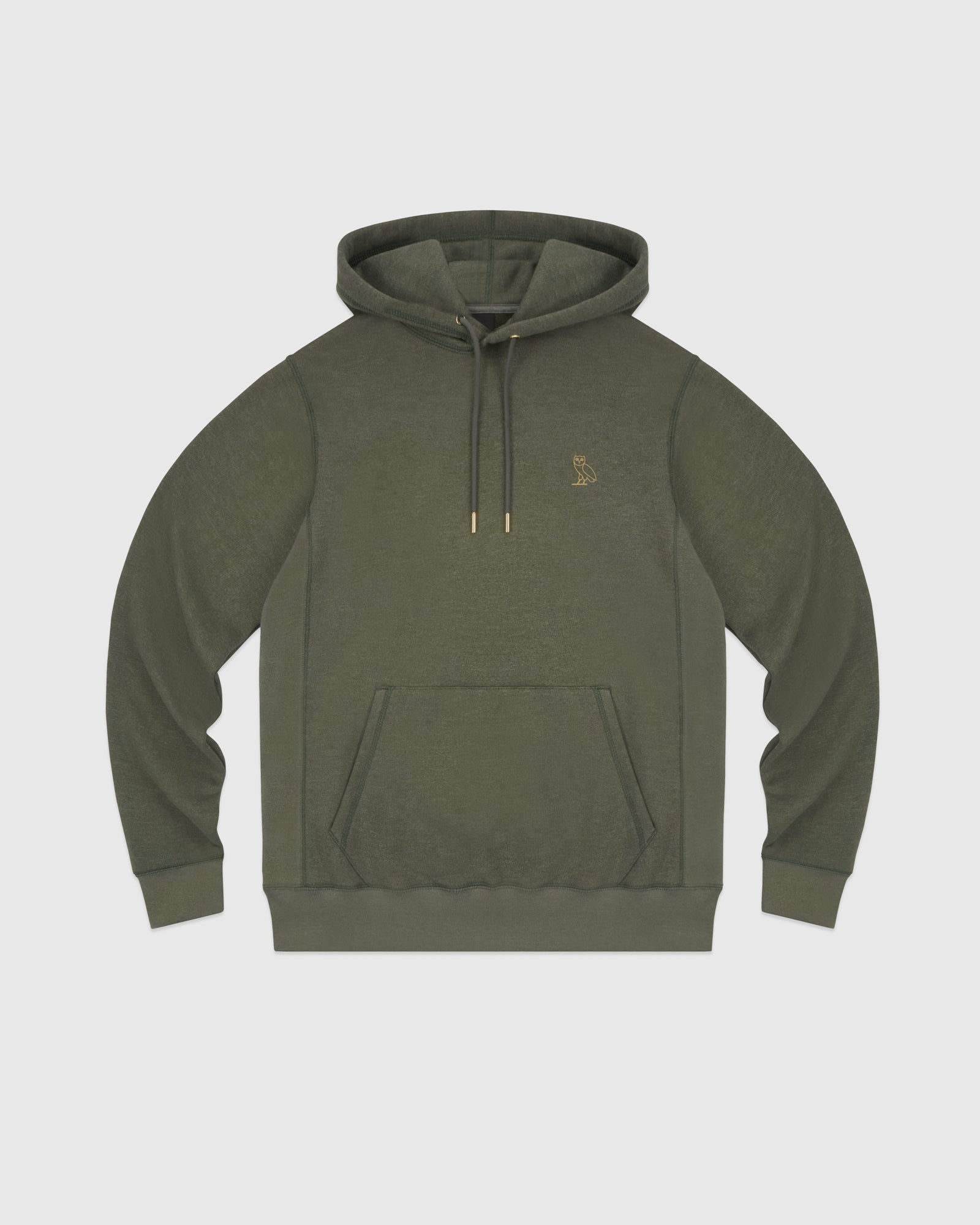 OVO FRENCH TERRY HOODIE - HEATHER MILITARY GREEN IMAGE #1