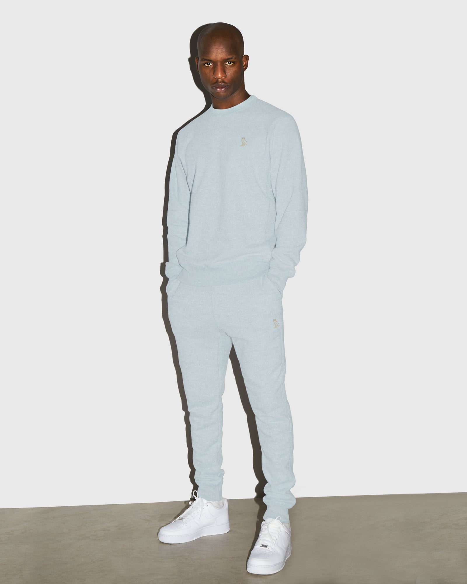 OVO FRENCH TERRY SWEATPANT - HEATHER LIGHT BLUE IMAGE #2