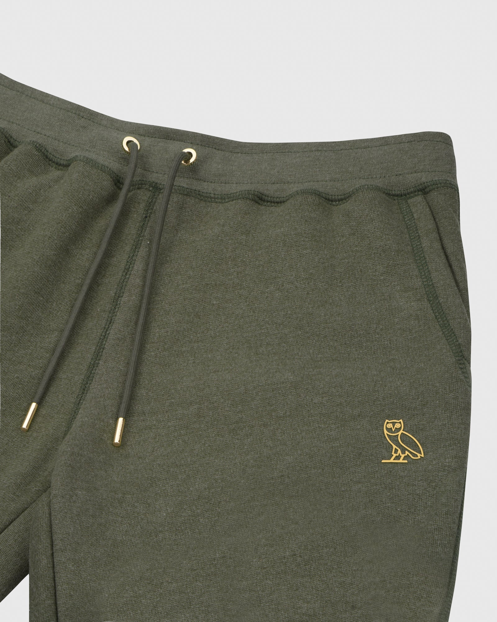 OVO FRENCH TERRY SWEATPANT - HEATHER MILITARY GREEN IMAGE #3