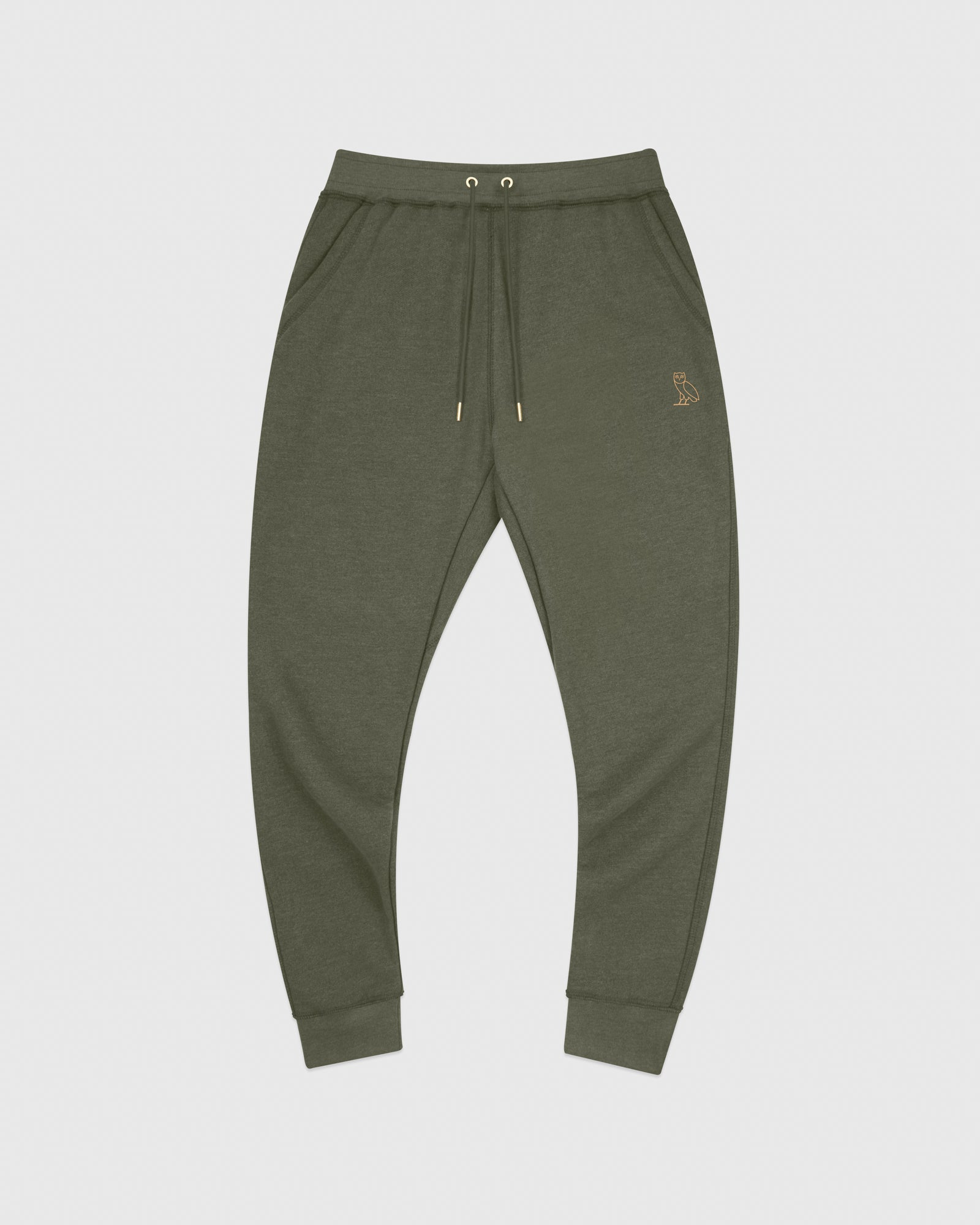 OVO FRENCH TERRY SWEATPANT - HEATHER MILITARY GREEN IMAGE #1