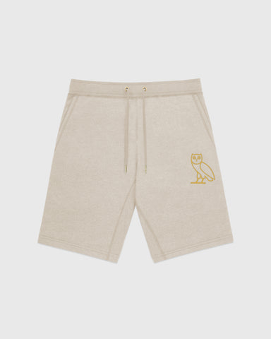 OVO OATMEAL FRENCH TERRY SHORT - HEATHER OATMEAL
