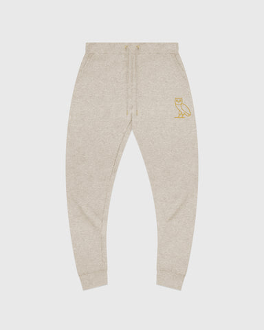 OVO OATMEAL FRENCH TERRY SWEATPANT - HEATHER OATMEAL