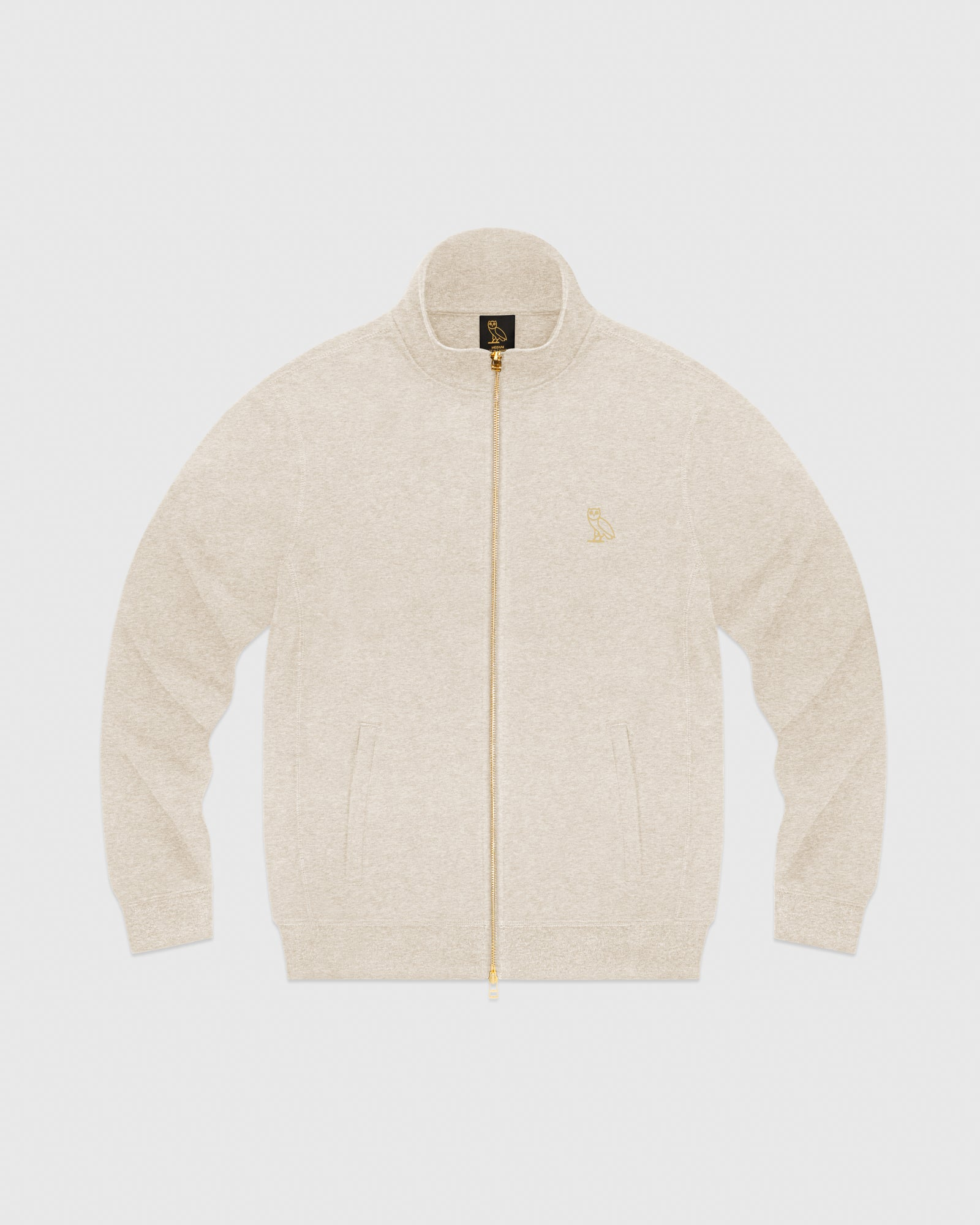 OVO FRENCH TERRY ZIP JACKET - HEATHER OATMEAL