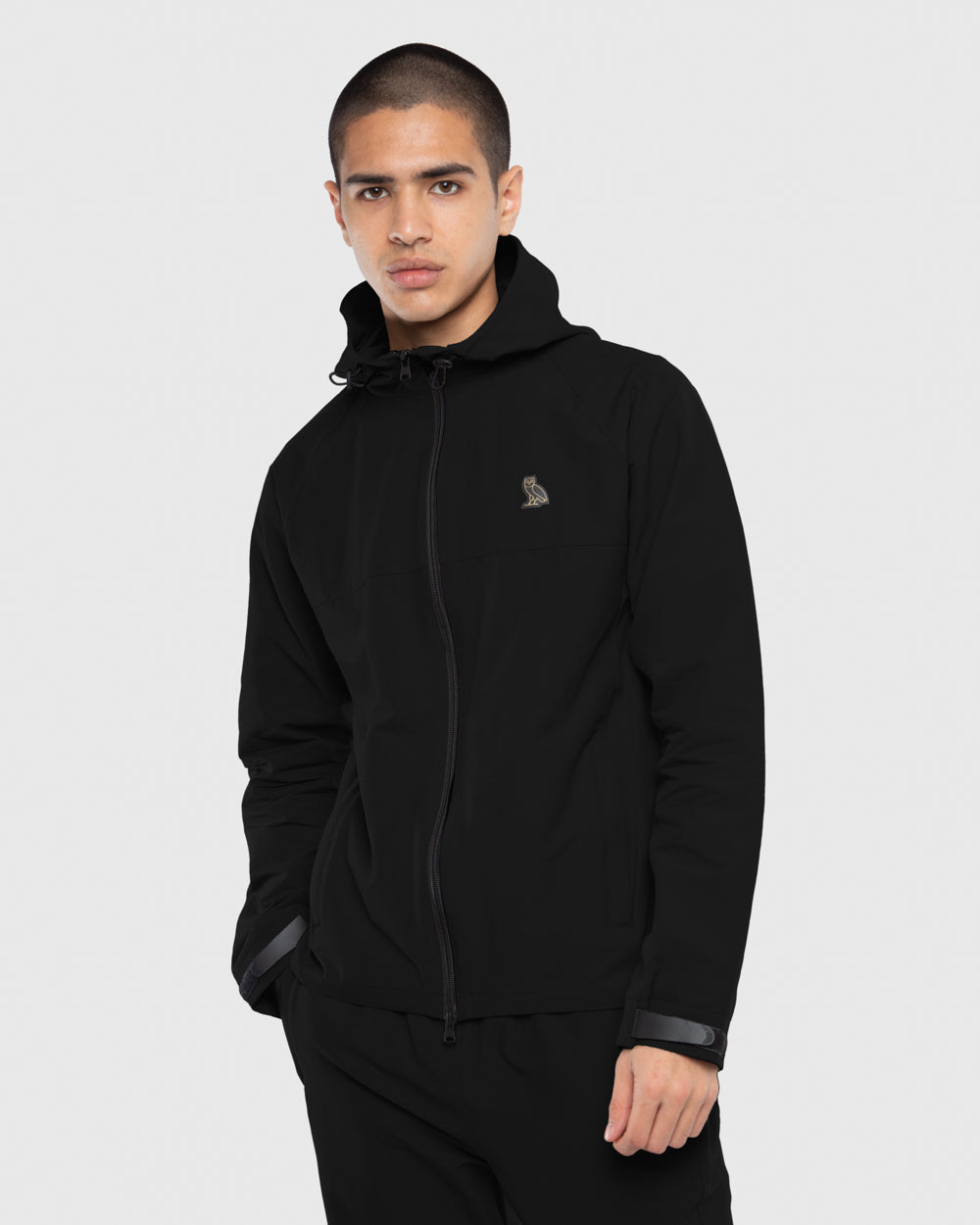 OVO NYLON SHELL JACKET - BLACK
