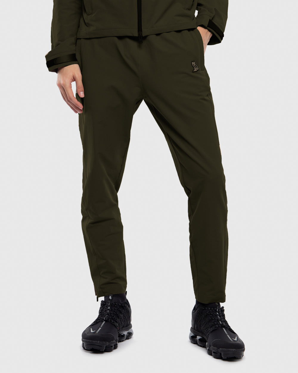OVO NYLON SHELL PANTS - STONE GREEN