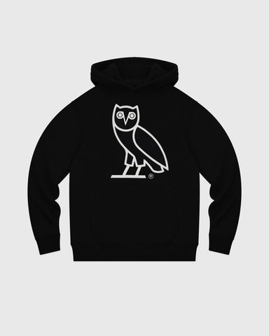 OVO AFTER DARK OWL HOODIE - BLACK