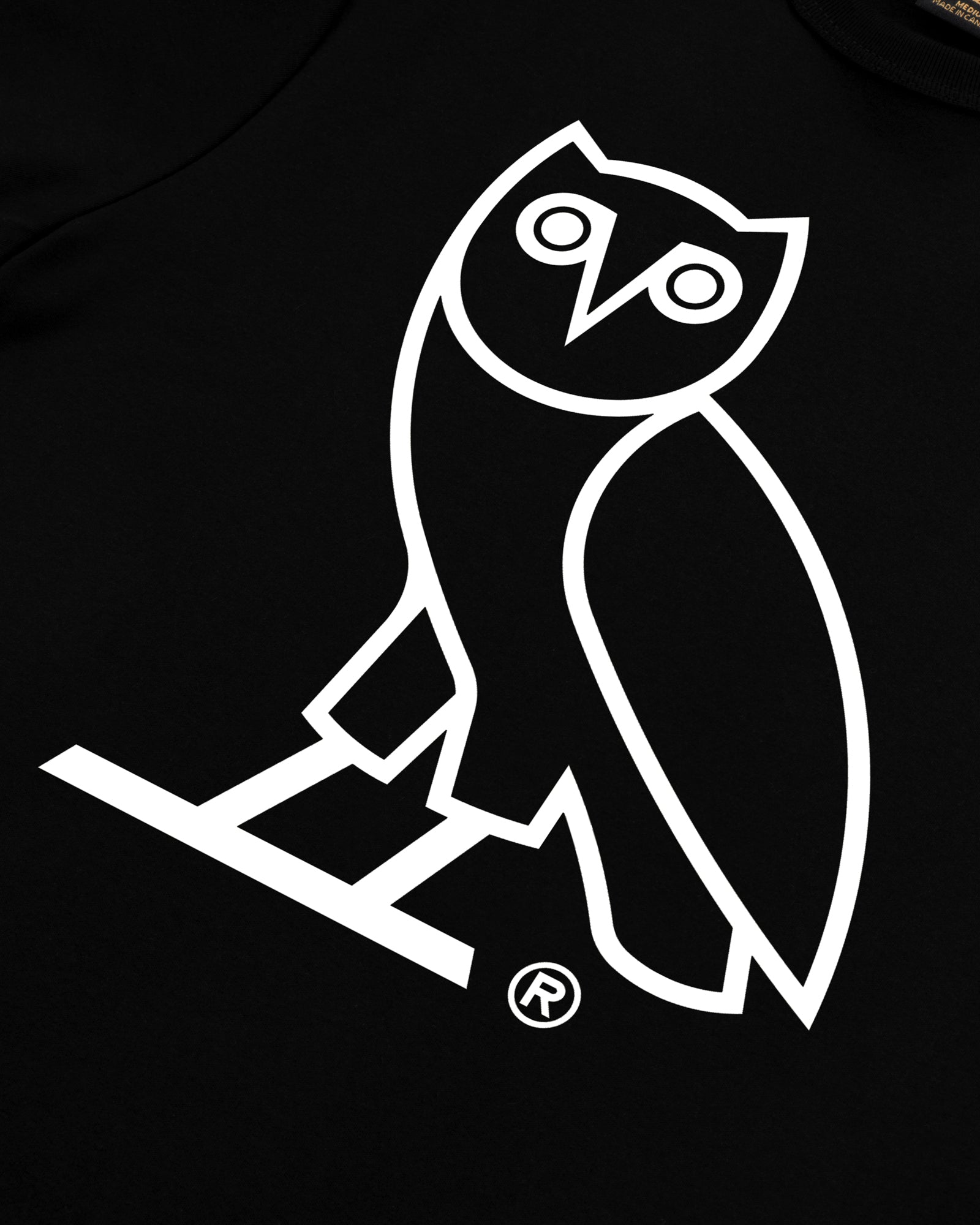 OVO AFTER DARK OWL T-SHIRT - BLACK IMAGE #3