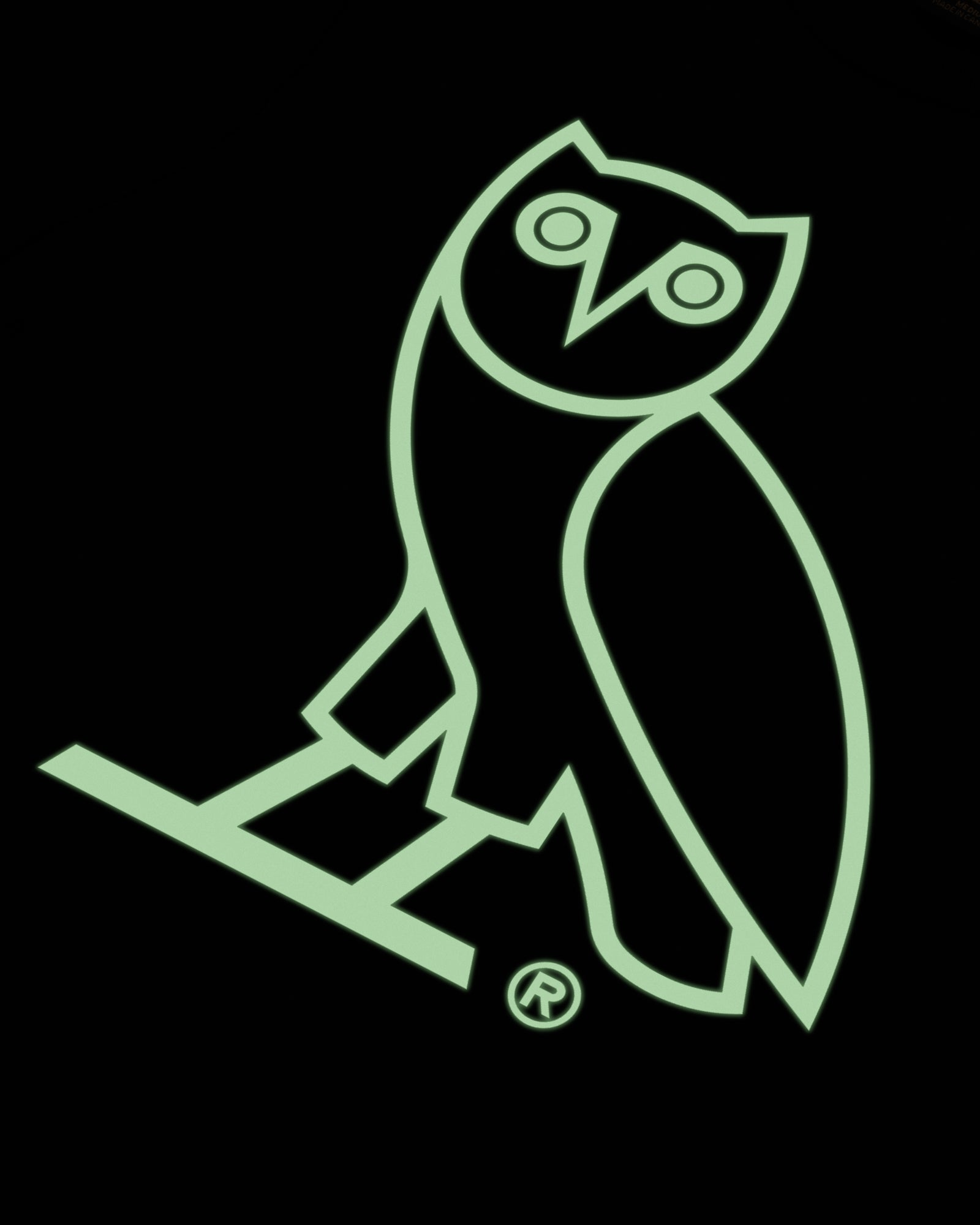 OVO AFTER DARK OWL T-SHIRT - BLACK IMAGE #4
