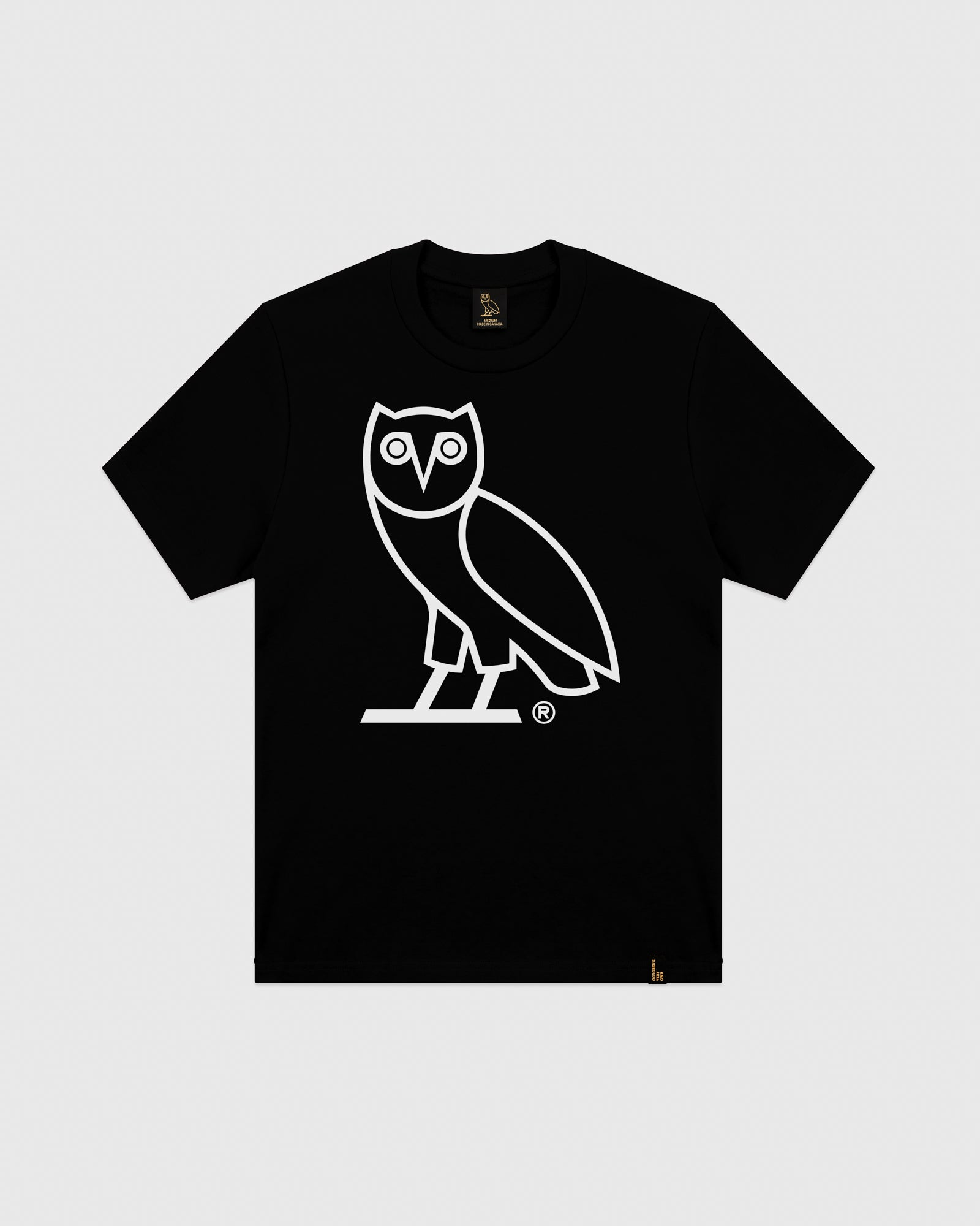 OVO AFTER DARK OWL T-SHIRT - BLACK IMAGE #1