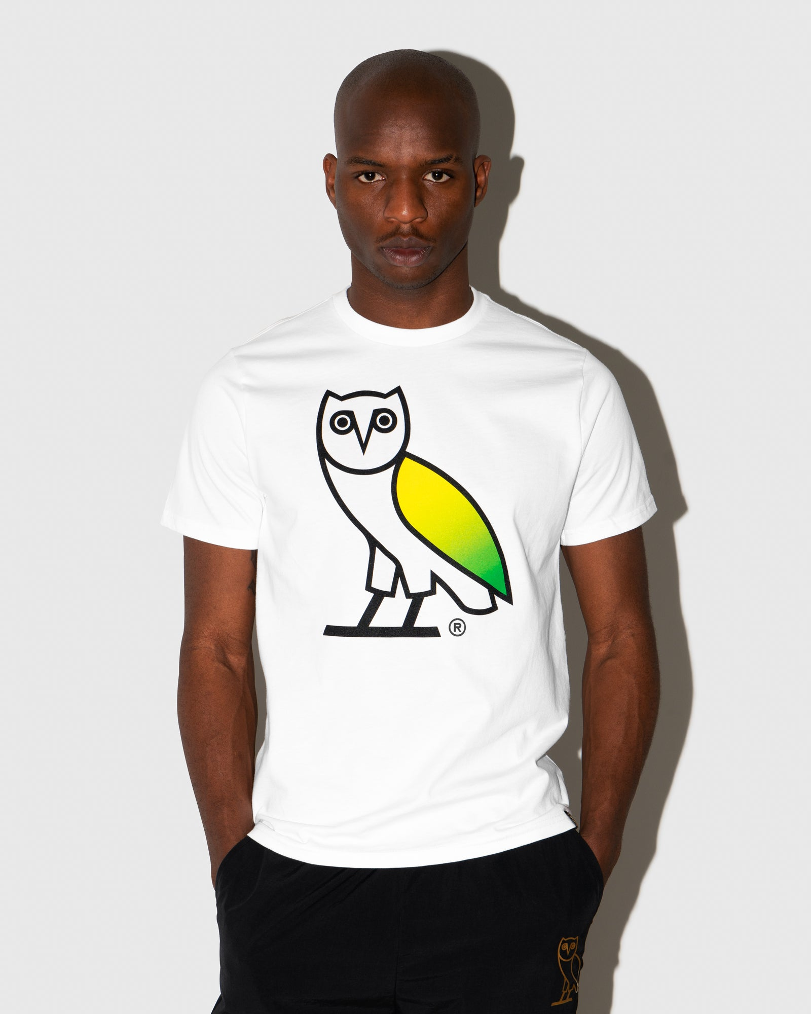GRADIENT OVO OWL T-SHIRT - WHITE