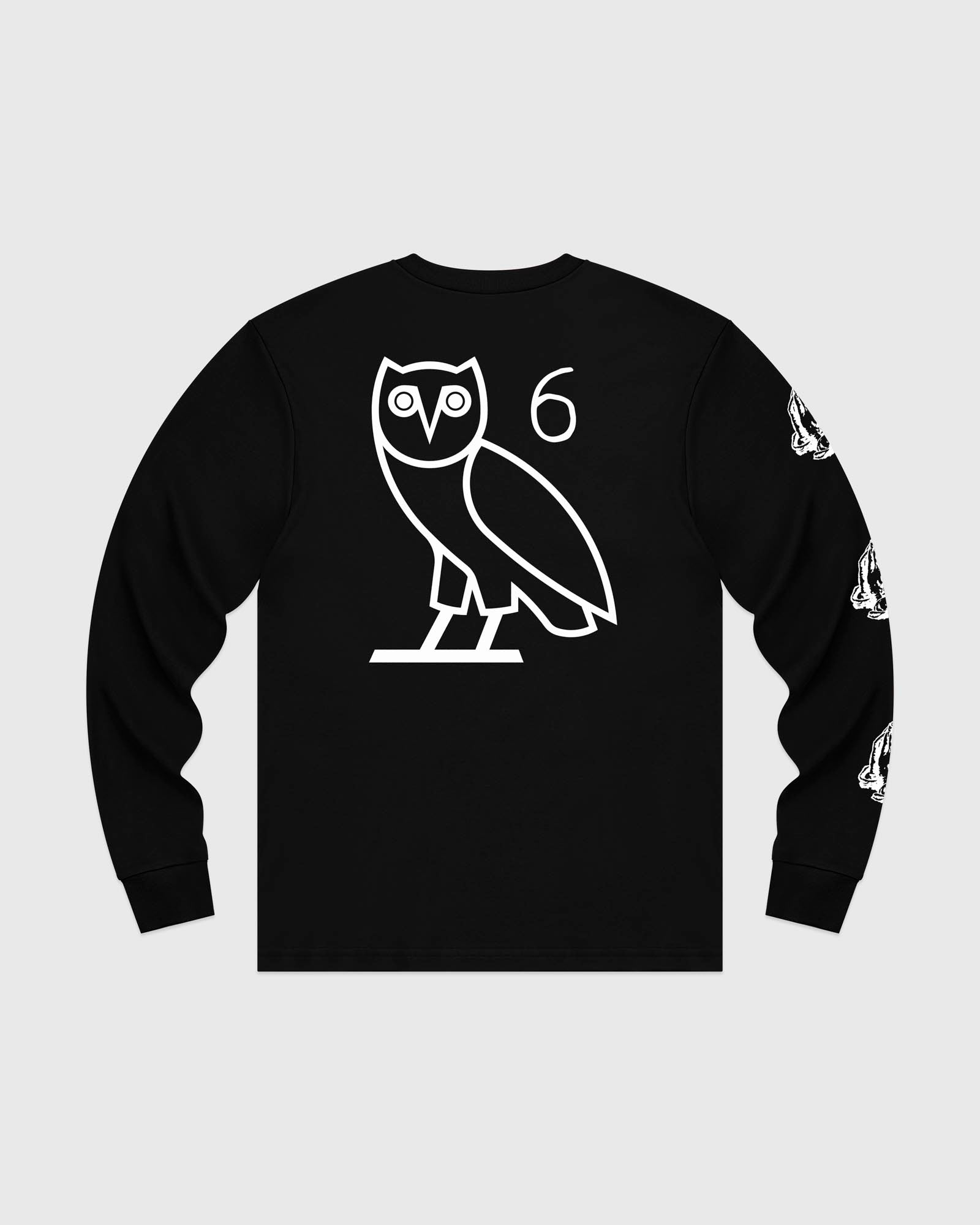 6 OWL LONG SLEEVE T-SHIRT - BLACK IMAGE #5