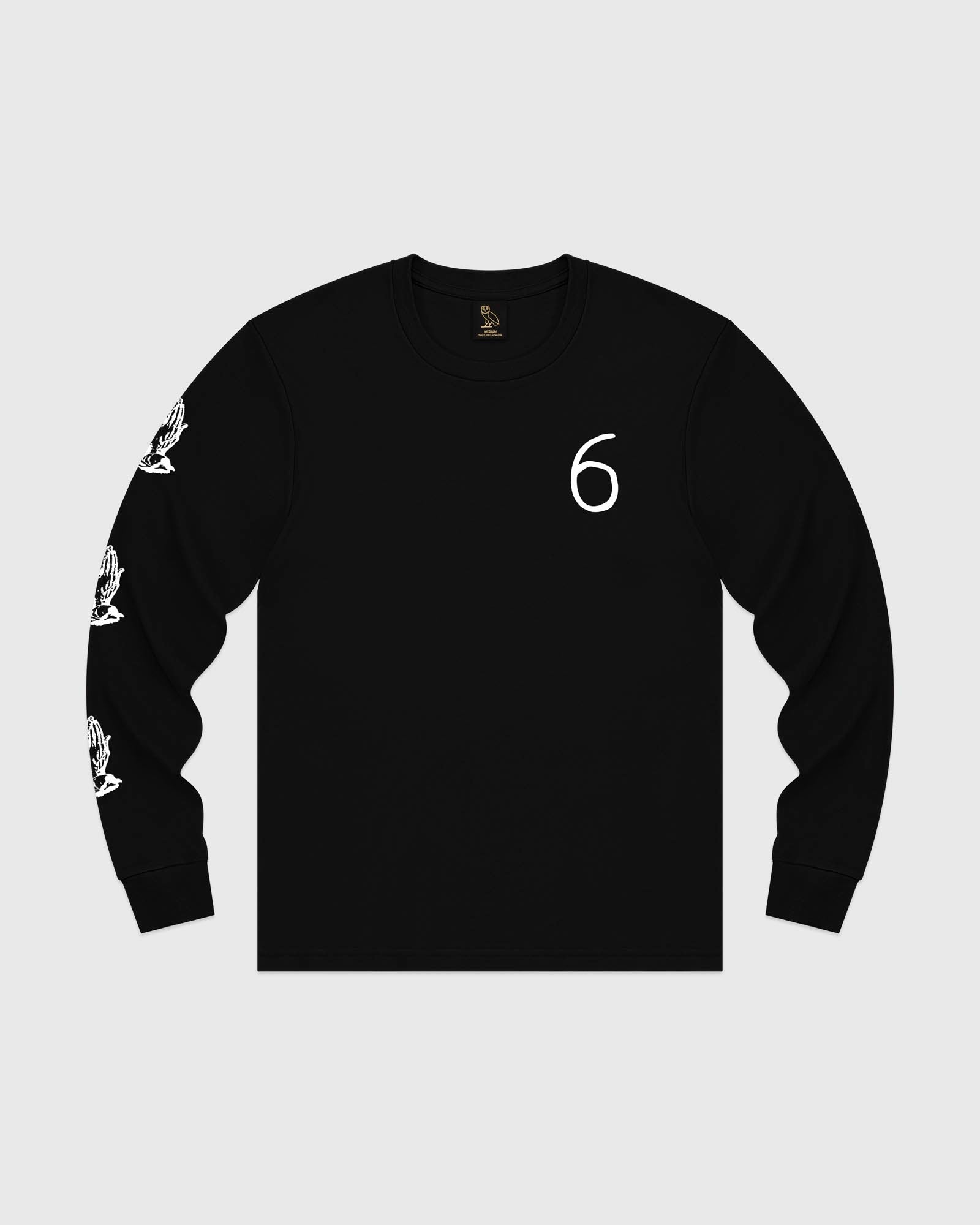 6 OWL LONG SLEEVE T-SHIRT - BLACK IMAGE #1
