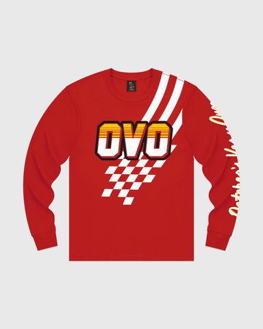 RACE OVER LONGSLEEVE T-SHIRT - RED
