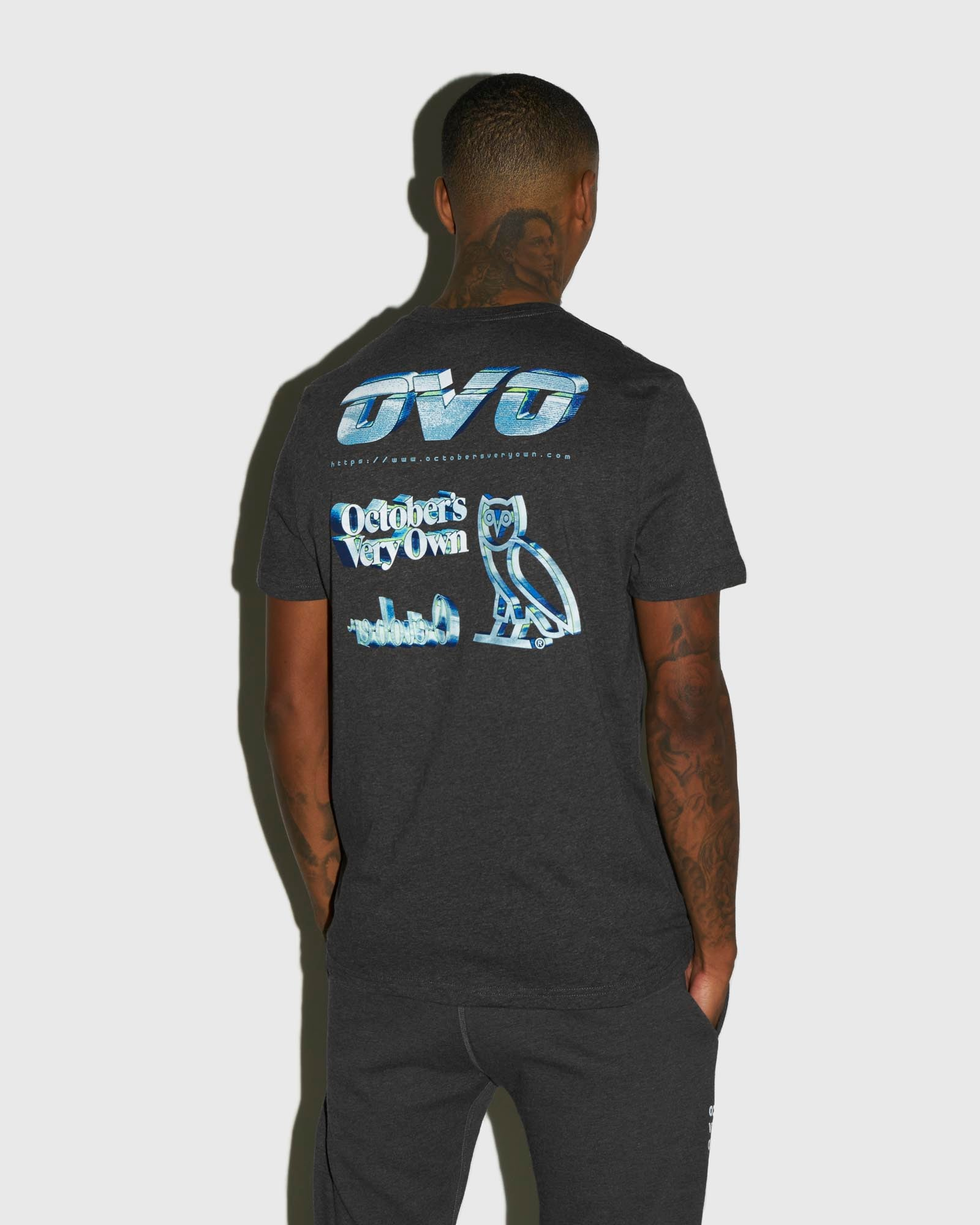 CYBER T-SHIRT - CHARCOAL HEATHER IMAGE #3