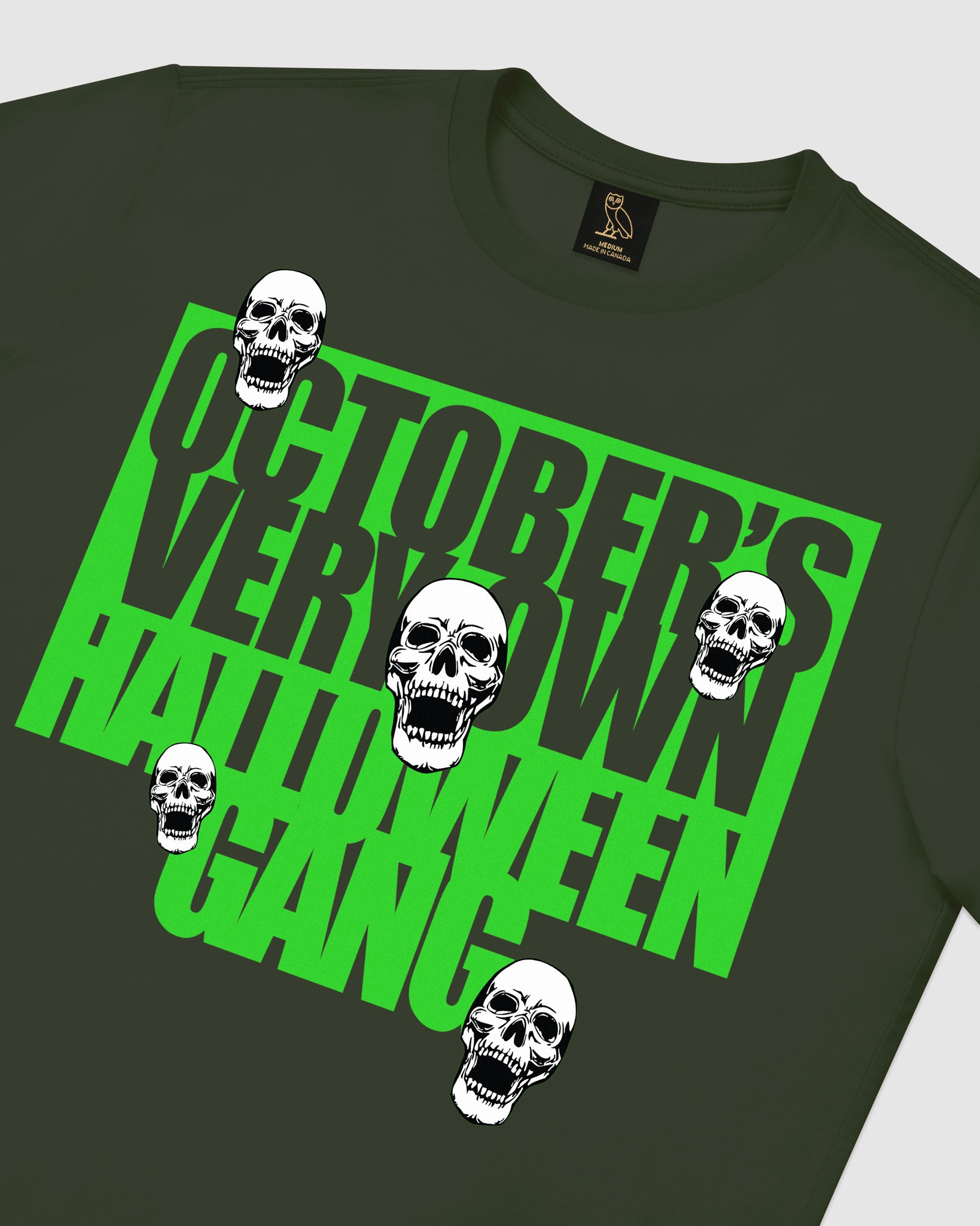 HALLOWEEN GANG T-SHIRT - MILITARY GREEN IMAGE #4