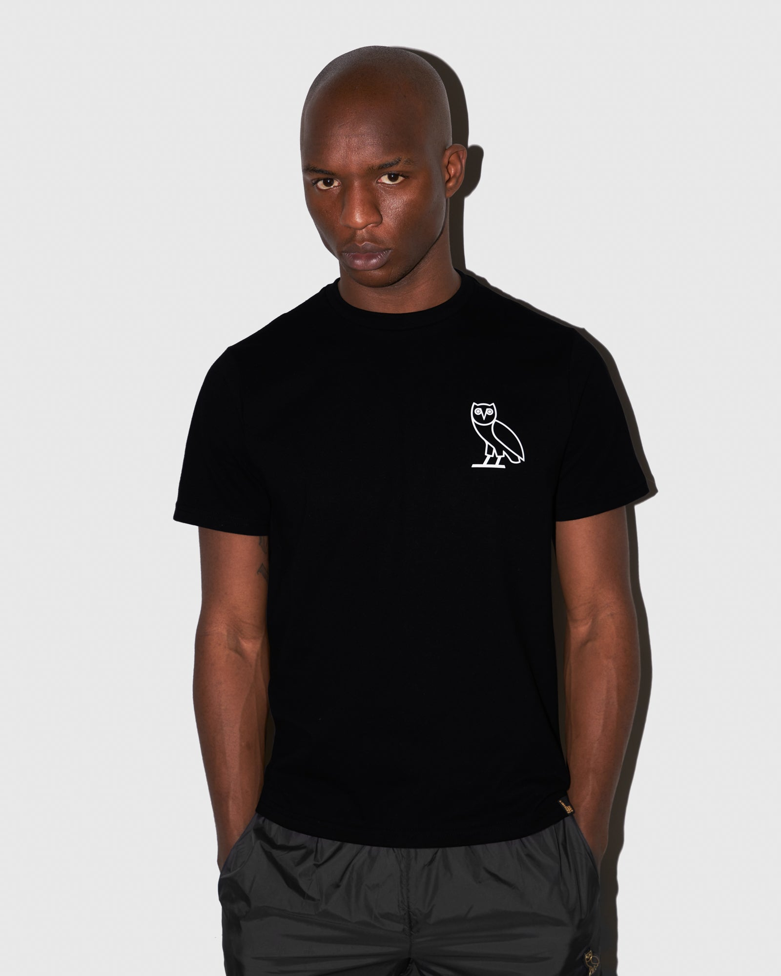 OVO OWL T-SHIRT - BLACK