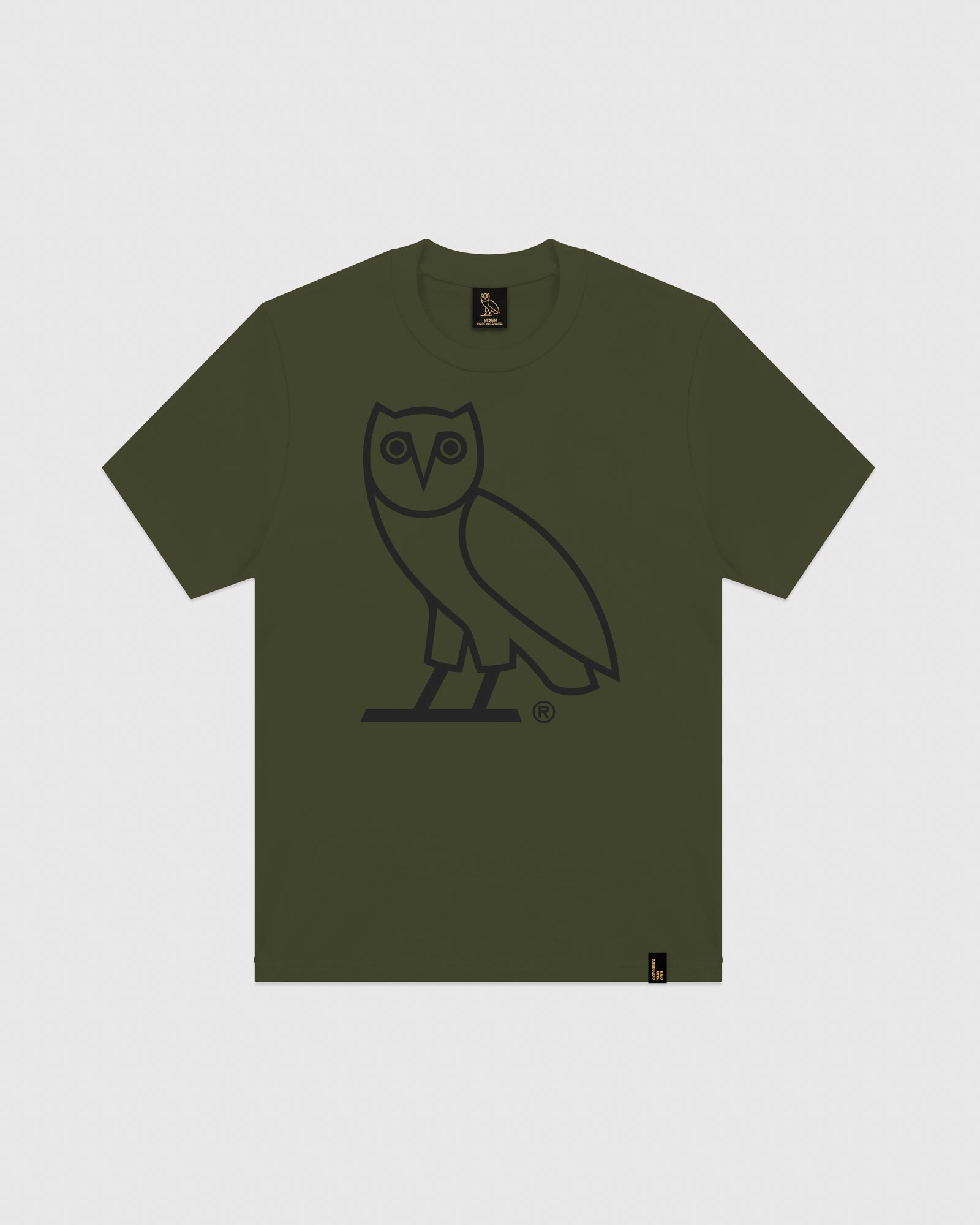 OVO OWL T-SHIRT - MILITARY GREEN IMAGE #1