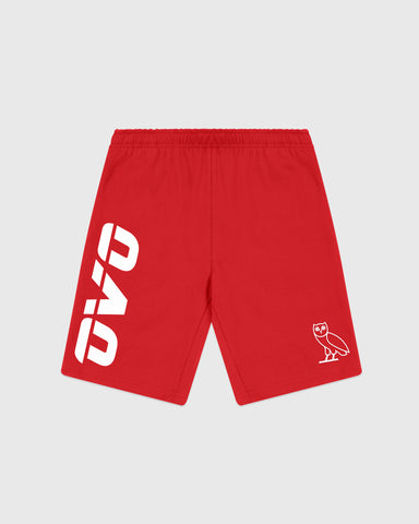 OVO RUNNER HEAVYWEIGHT JERSEY SHORT - RED
