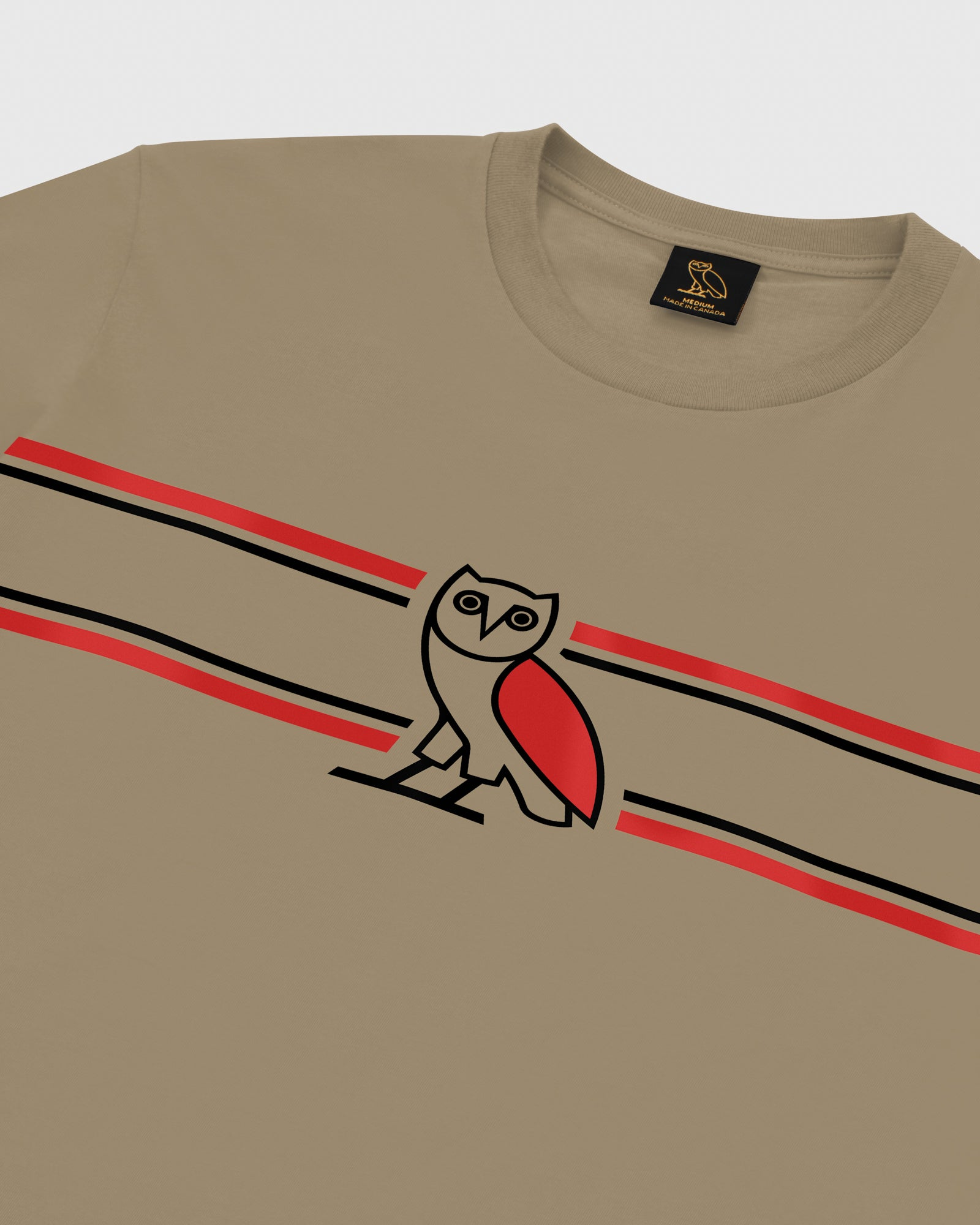 OVO CHEST STRIPE LONGSLEEVE - KHAKI