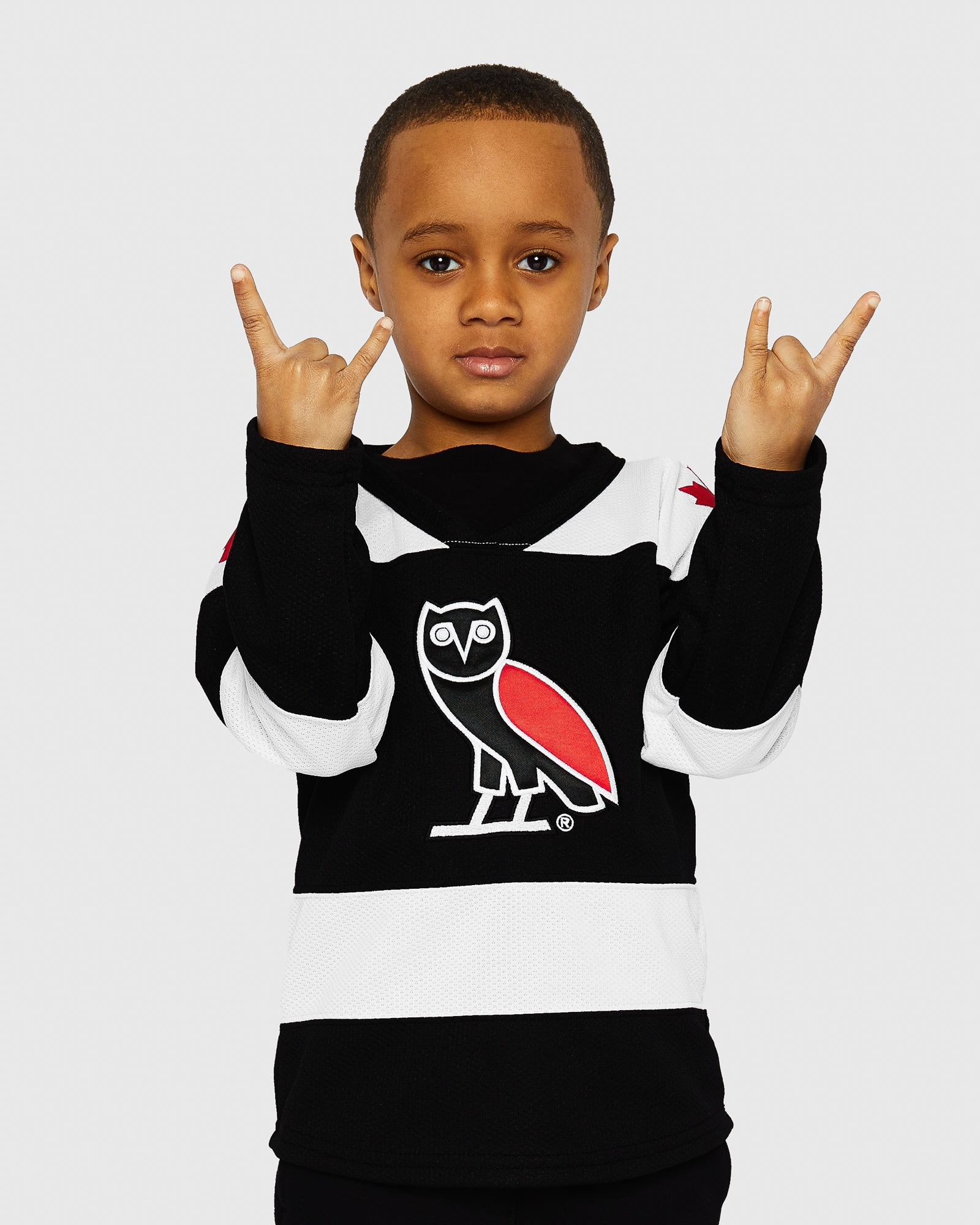 OVO KIDS HOCKEY JERSEY - BLACK