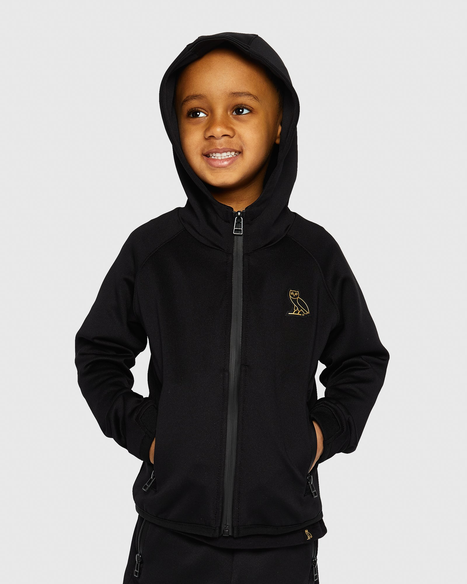 OVO KIDS INTERLOCK JACKET - BLACK IMAGE #2