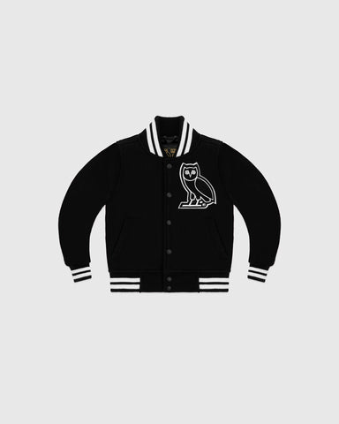 OVO KIDS TEAM JACKET - BLACK