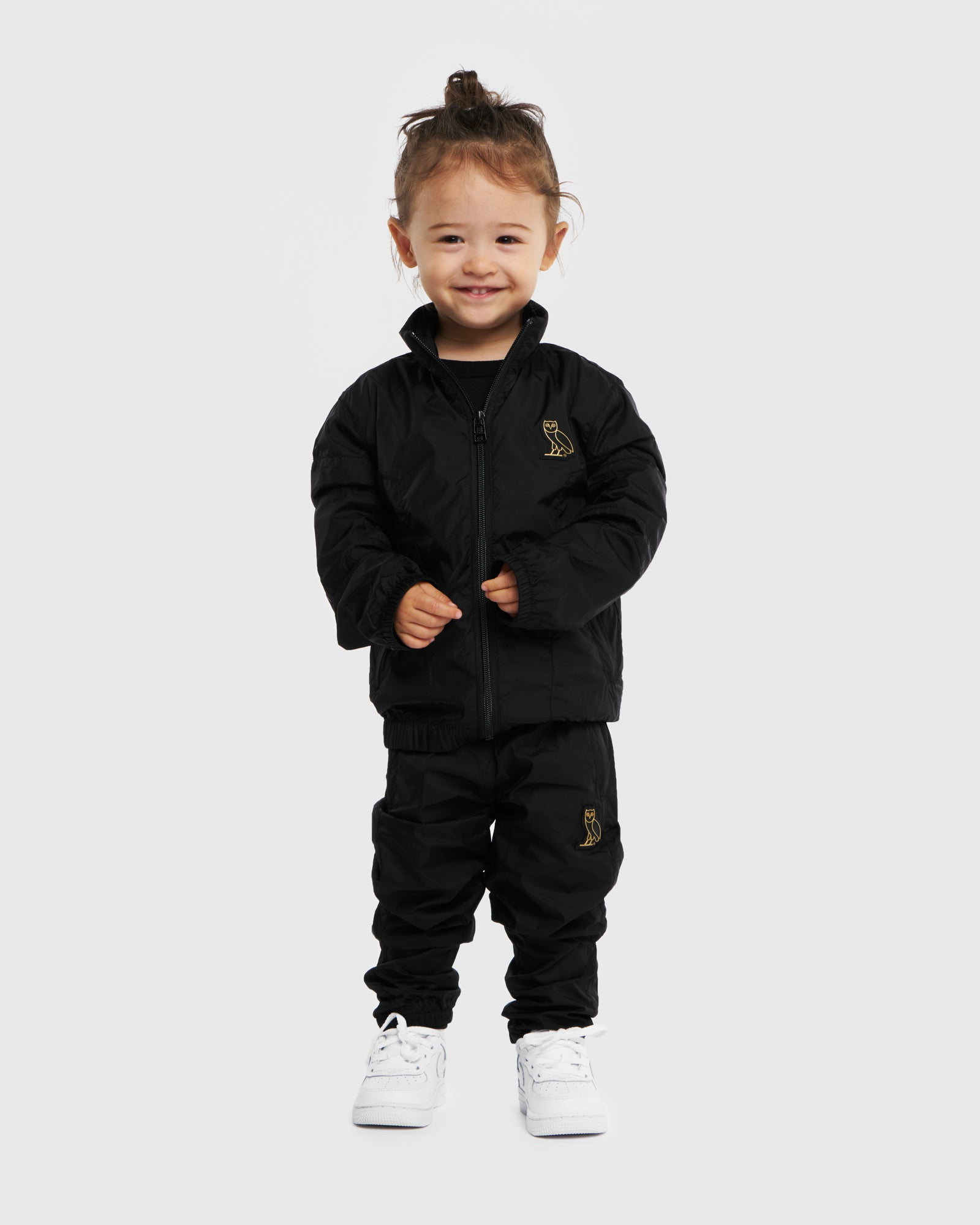 KIDS COLOUR BLOCK NYLON PANT - BLACK IMAGE #2
