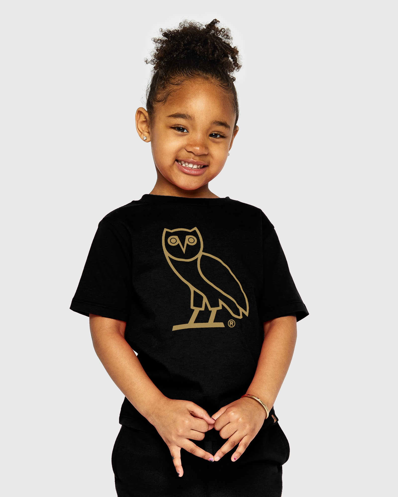 KIDS OG OWL T-SHIRT - BLACK IMAGE #2