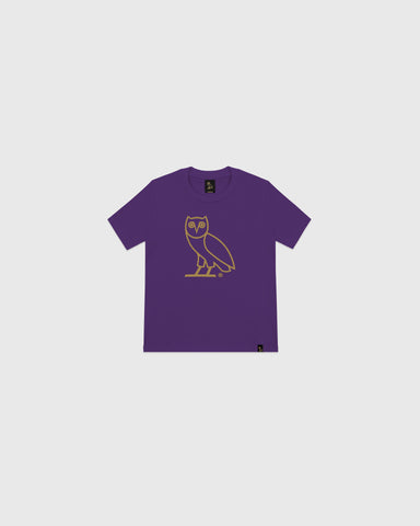 OVO KIDS OG OWL T-SHIRT - PURPLE