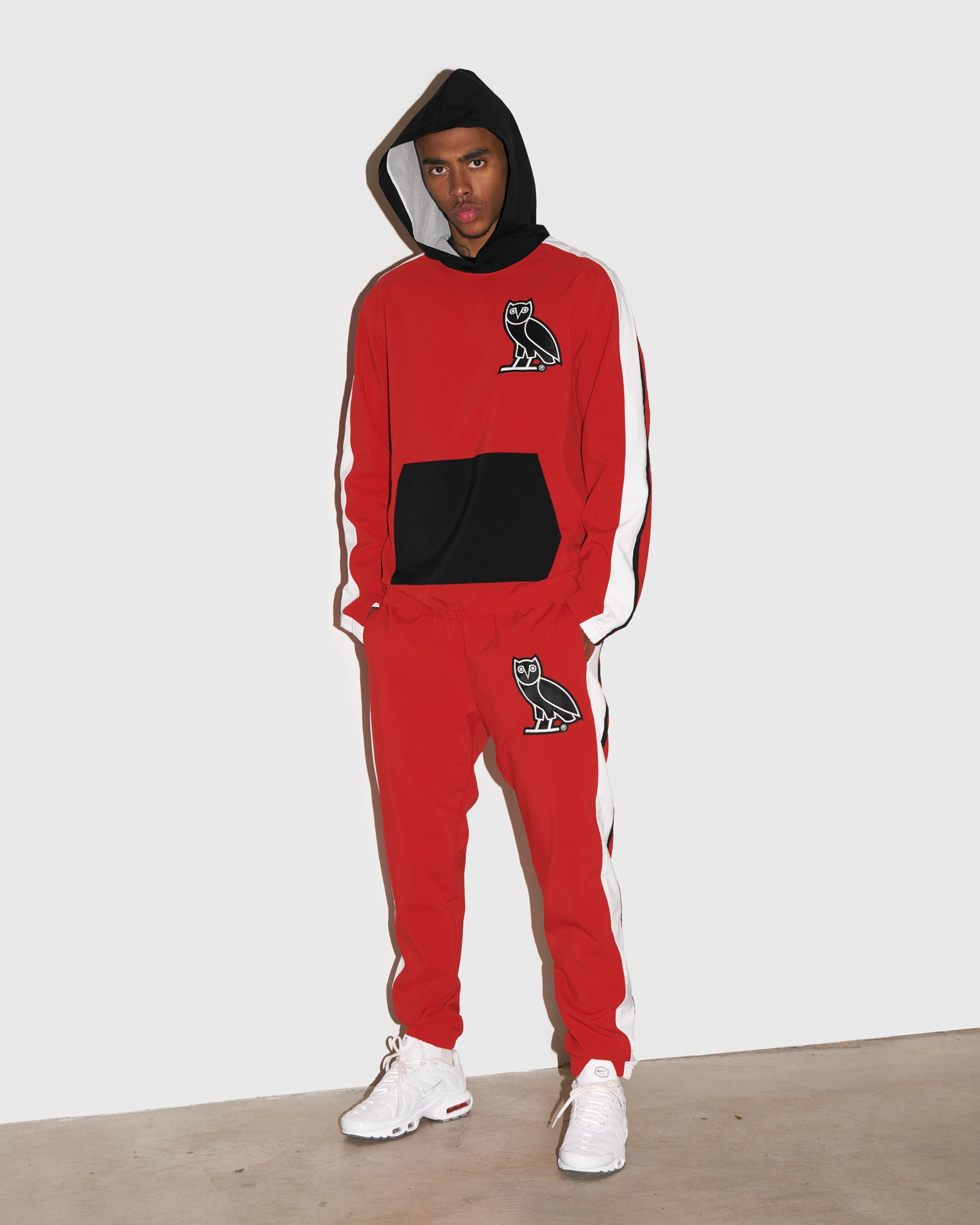 OVO LIGHTWEIGHT SHELL PANT - RED IMAGE #2