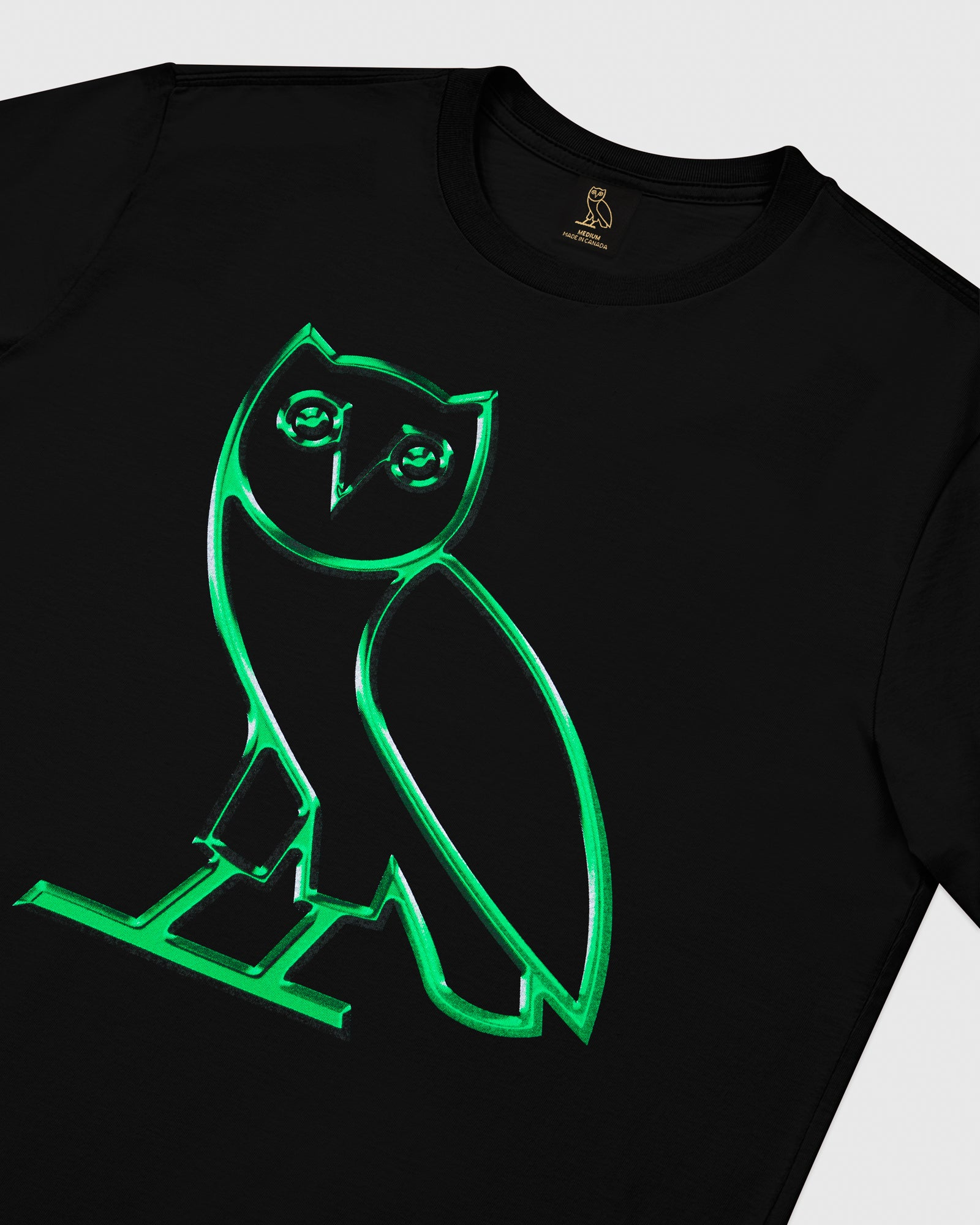 CHROME OWL T-SHIRT - BLACK IMAGE #3
