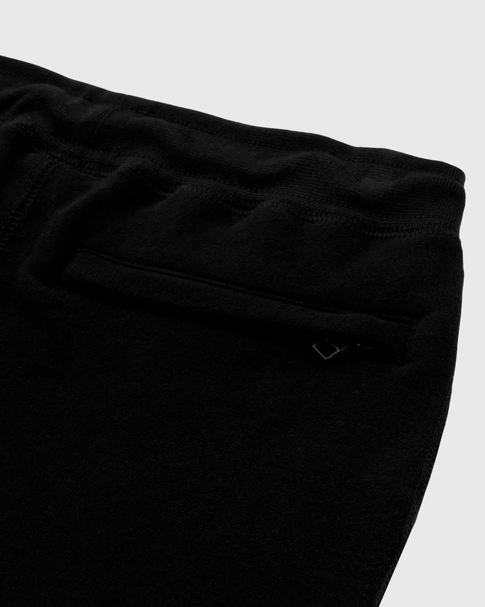MID-WEIGHT FRENCH TERRY SHORT - BLACK