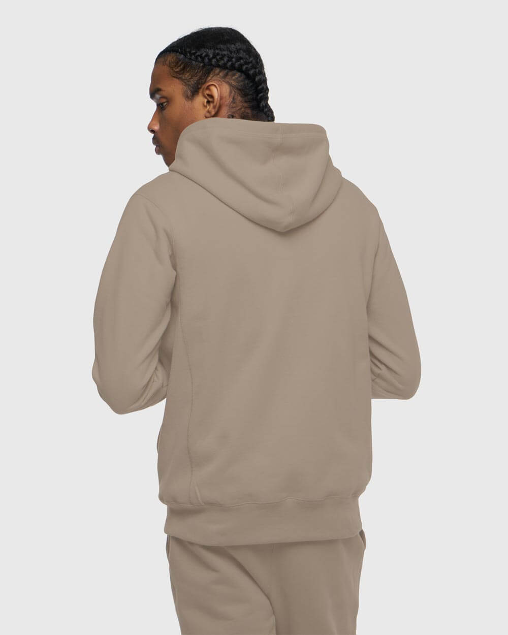 MID-WEIGHT FRENCH TERRY ZIP HOODIE - WARM GREY