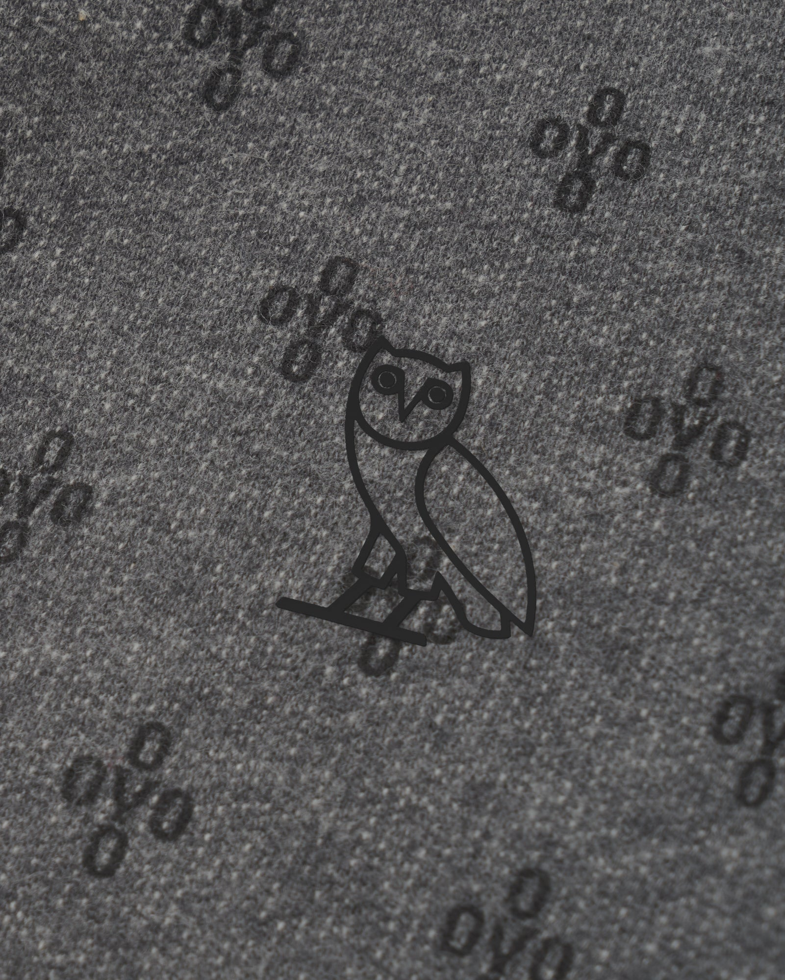 OVO MONOGRAM SWEATPANT - HEATHER CHARCOAL