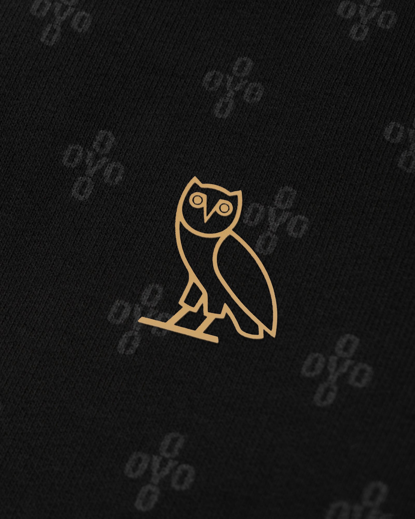 OVO MONOGRAM T-SHIRT - BLACK