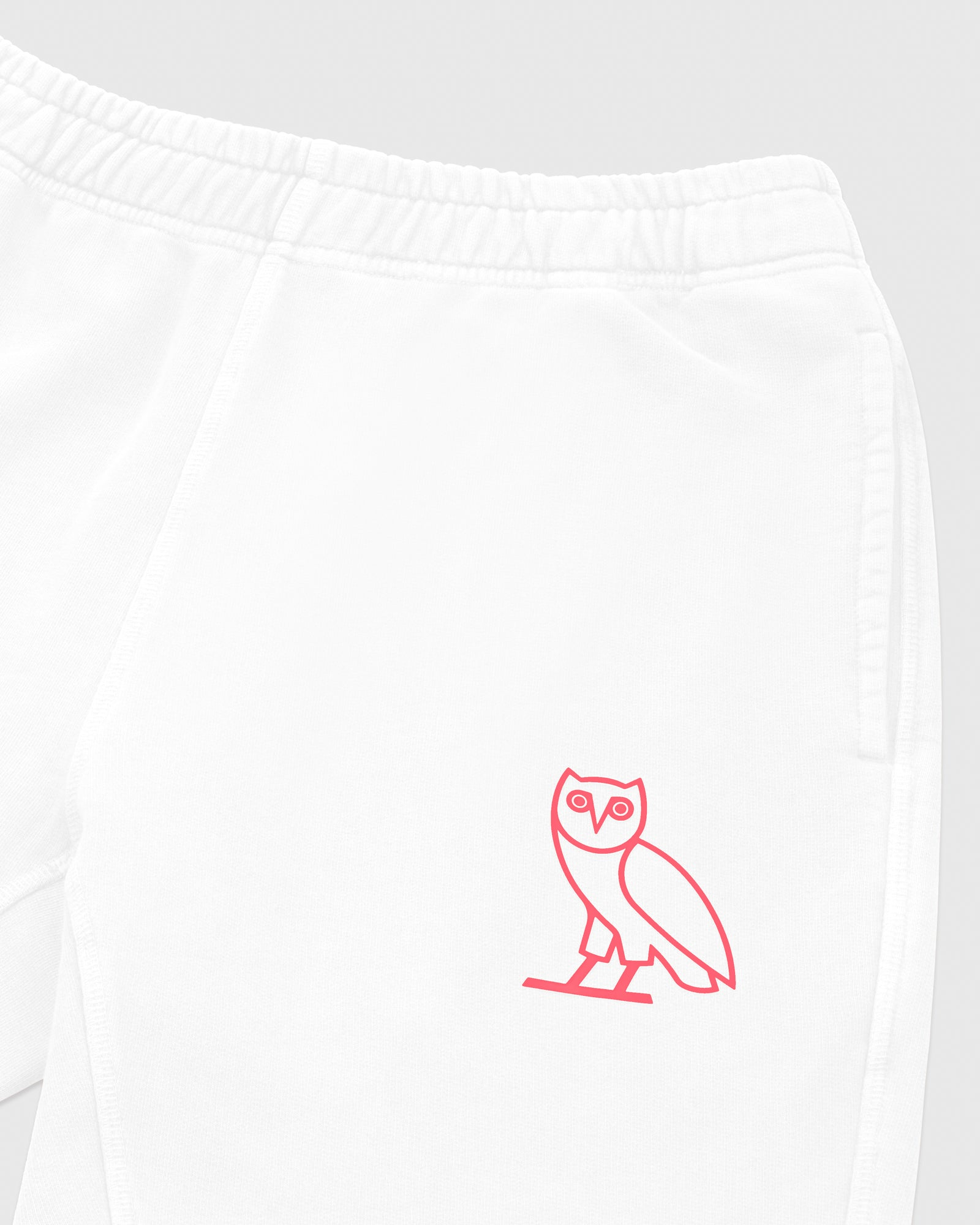 OVO FRENCH TERRY SHORT - WHITE IMAGE #3