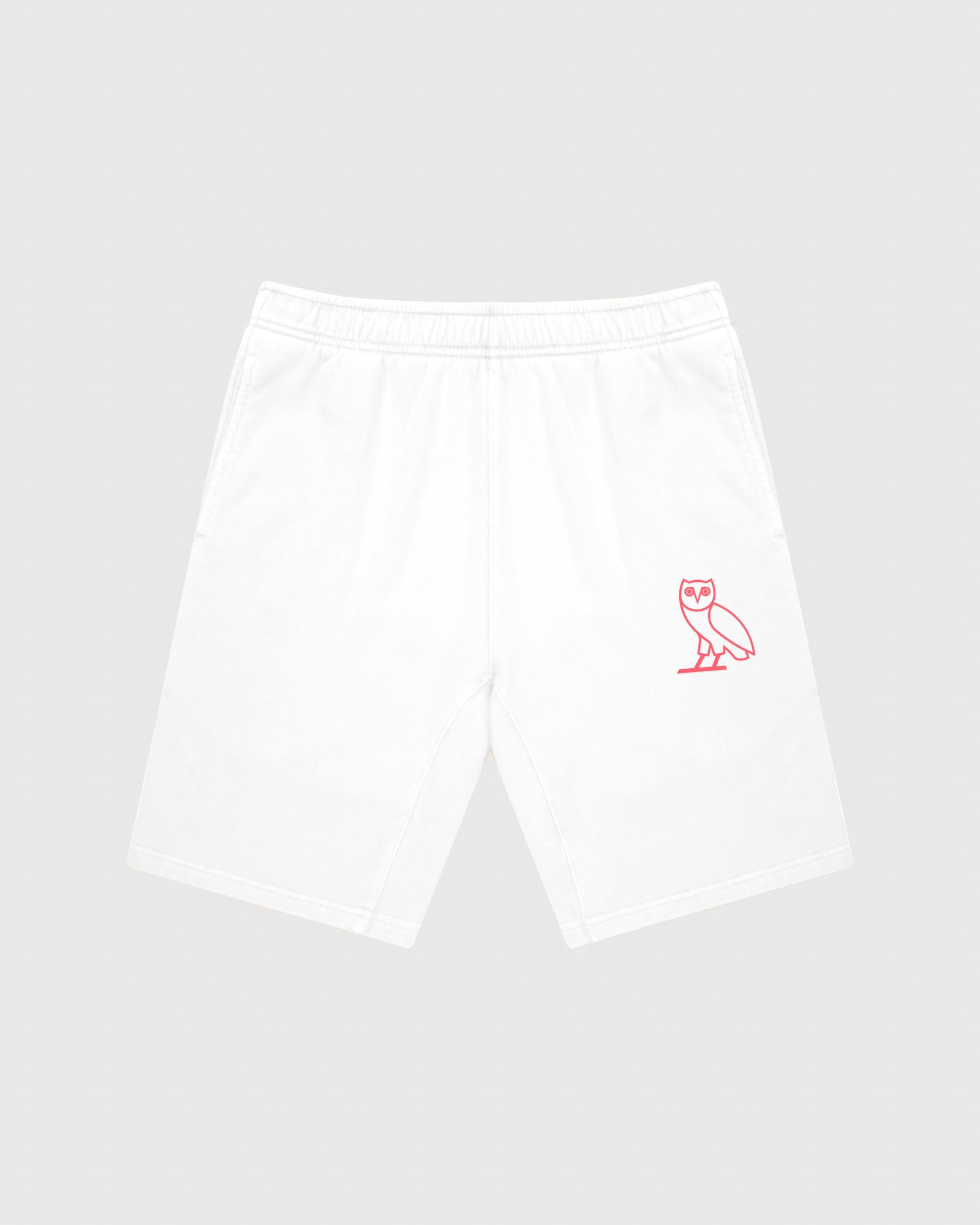 OVO FRENCH TERRY SHORT - WHITE IMAGE #1