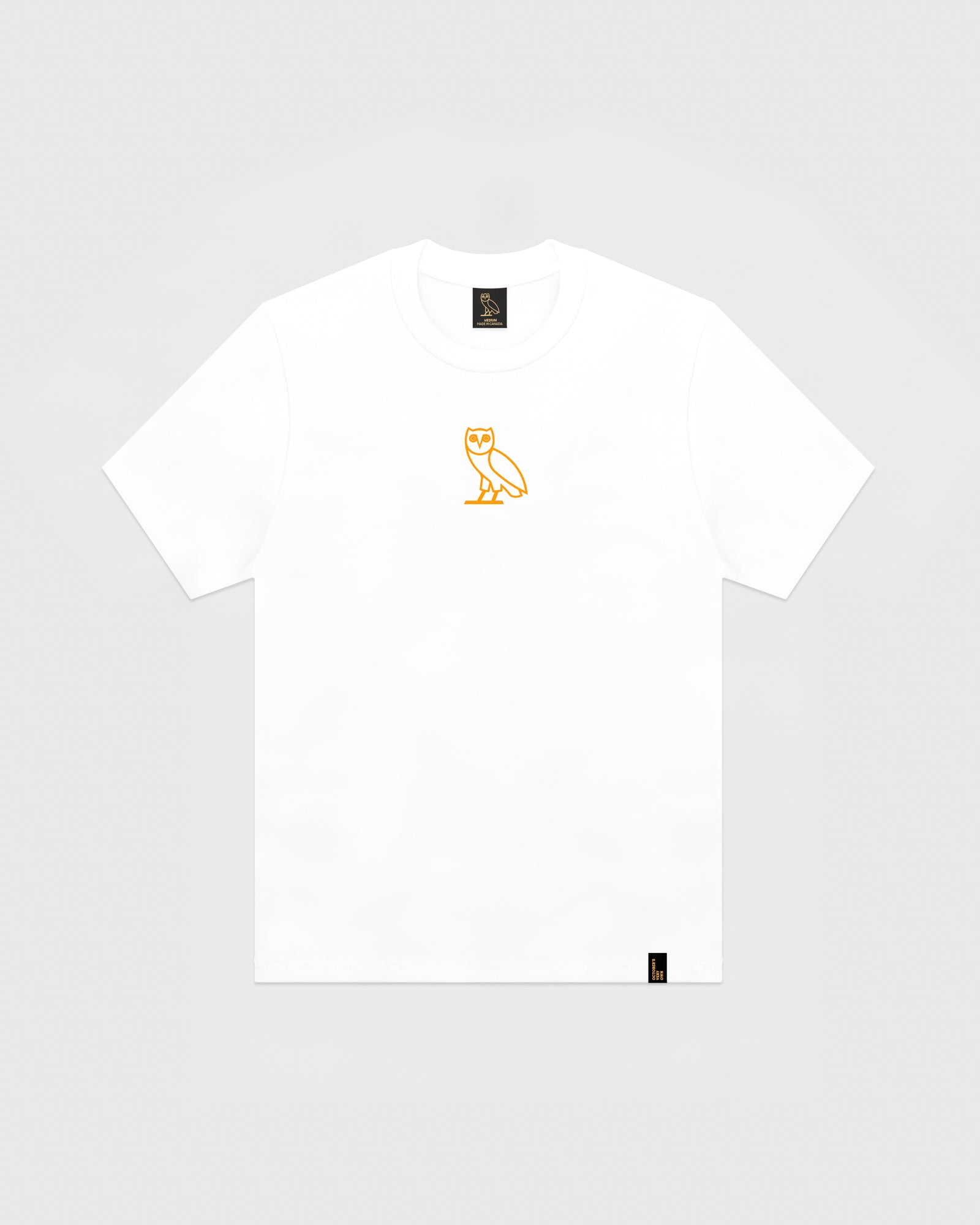 OVO OWL T-SHIRT - WHITE/NEON ORANGE IMAGE #1