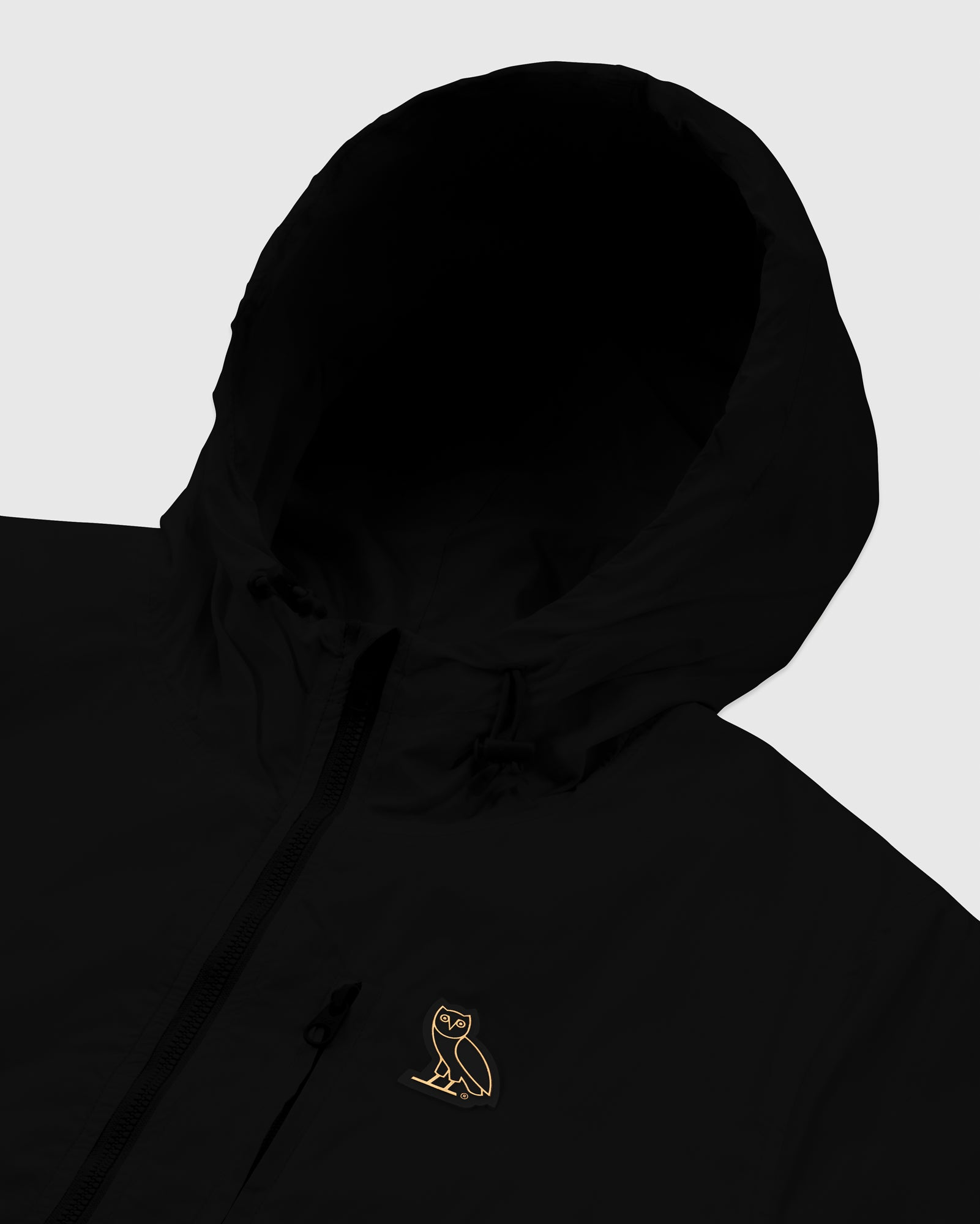 OVO NYLON PACKABLE JACKET - BLACK