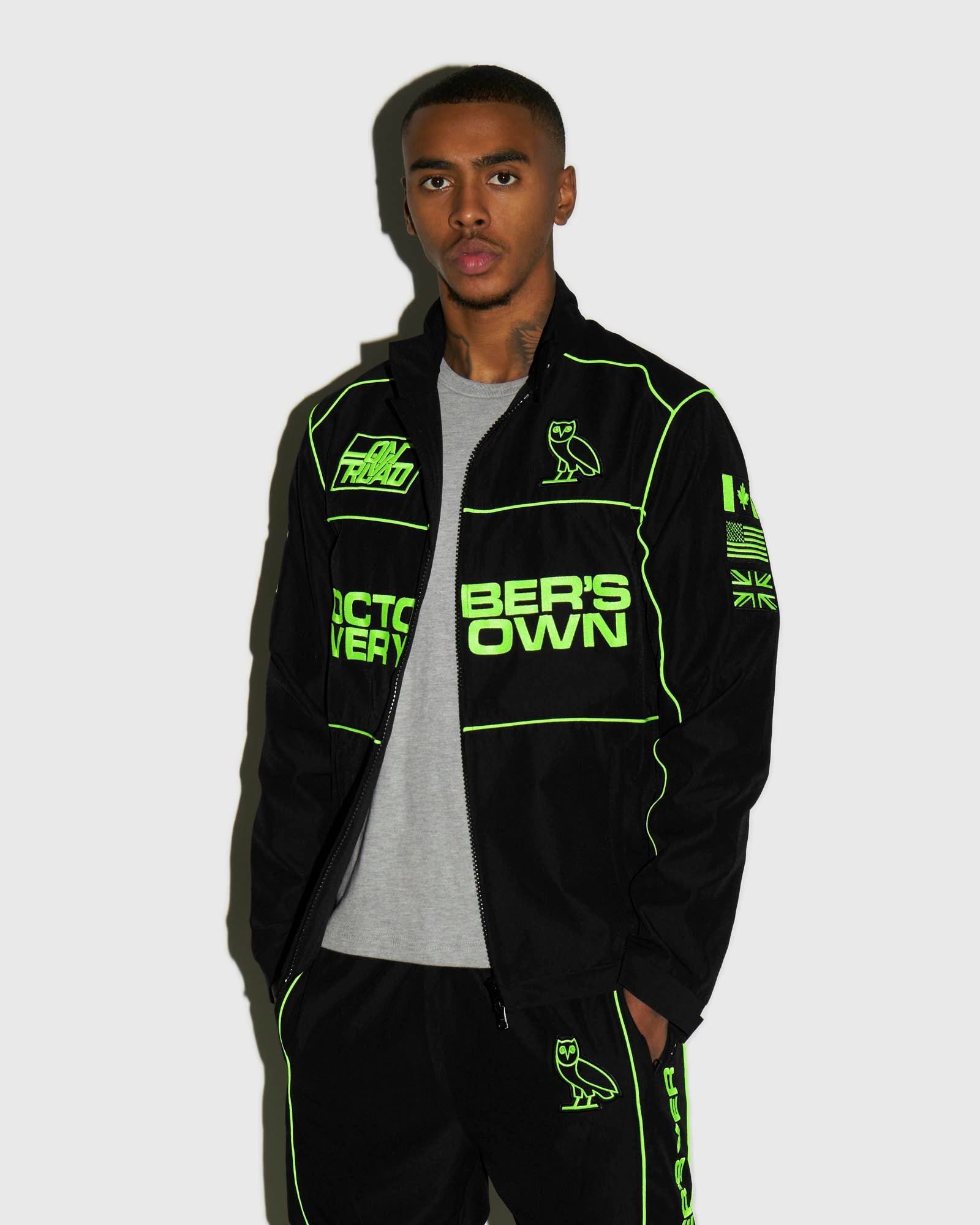 NYLON TEAM RACE JACKET - BLACK IMAGE #2