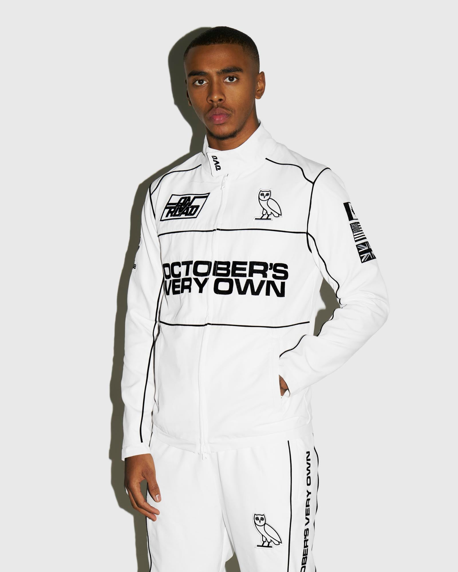 NYLON TEAM RACE JACKET - WHITE IMAGE #2