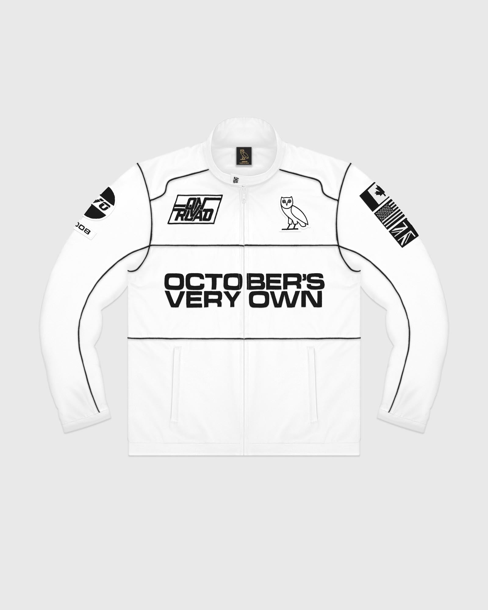 NYLON TEAM RACE JACKET - WHITE IMAGE #1
