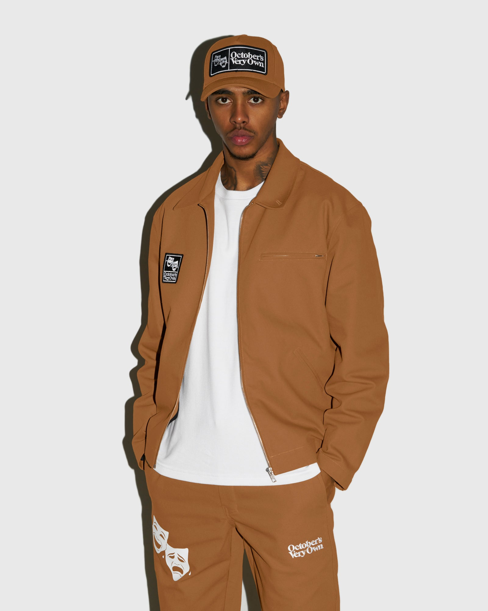 OCTOBER CANVAS JACKET - BROWN IMAGE #2