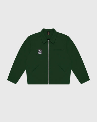 OCTOBER CANVAS JACKET - DARK GREEN