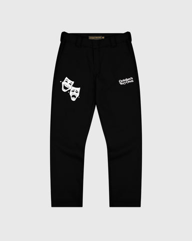 OCTOBER CANVAS PANT - BLACK