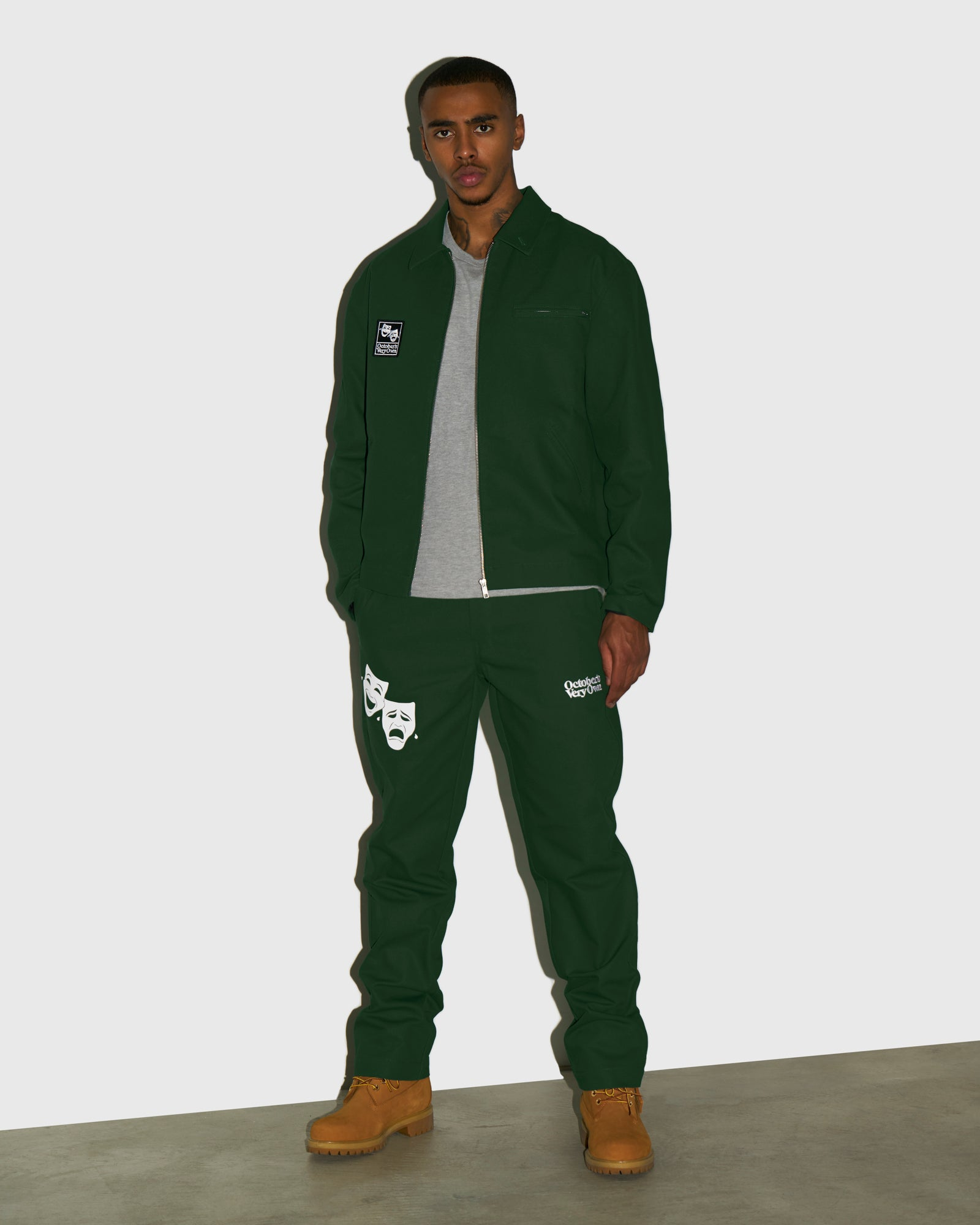 OCTOBER CANVAS PANT - DARK GREEN IMAGE #2