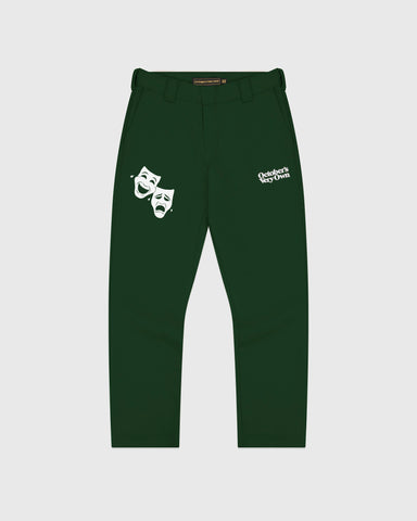 OCTOBER CANVAS PANT - DARK GREEN