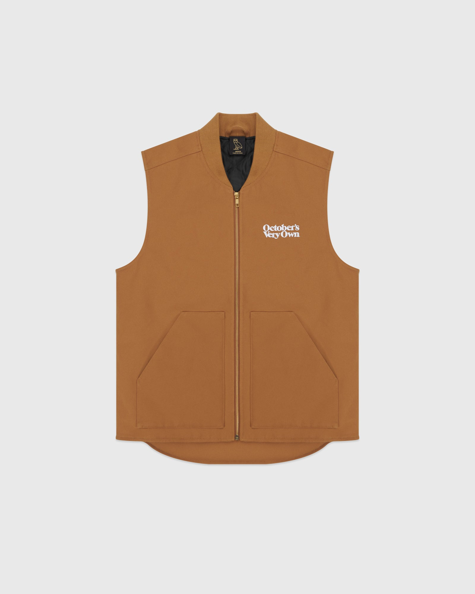 OCTOBER CANVAS VEST - BROWN IMAGE #1