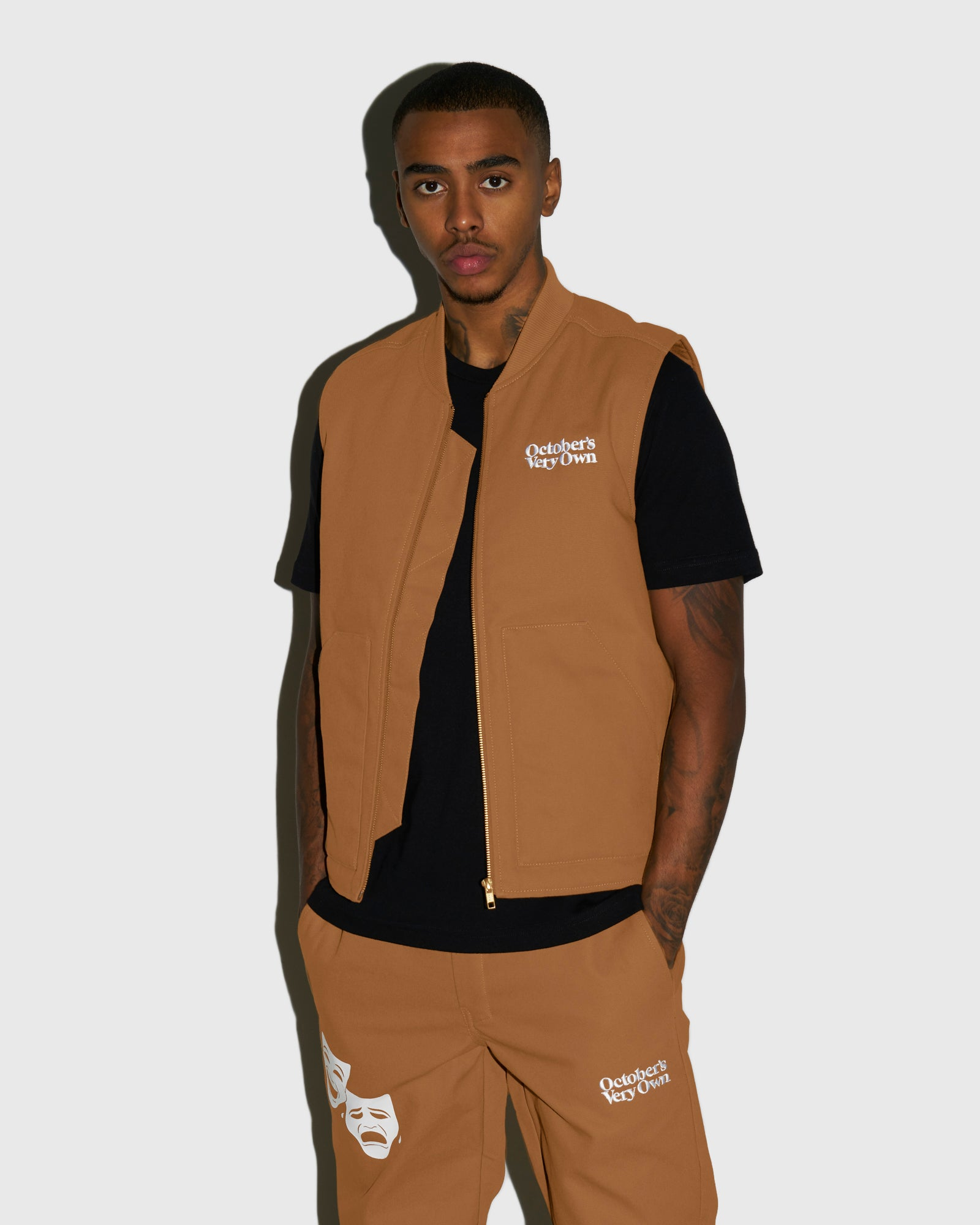 OCTOBER CANVAS VEST - BROWN IMAGE #2